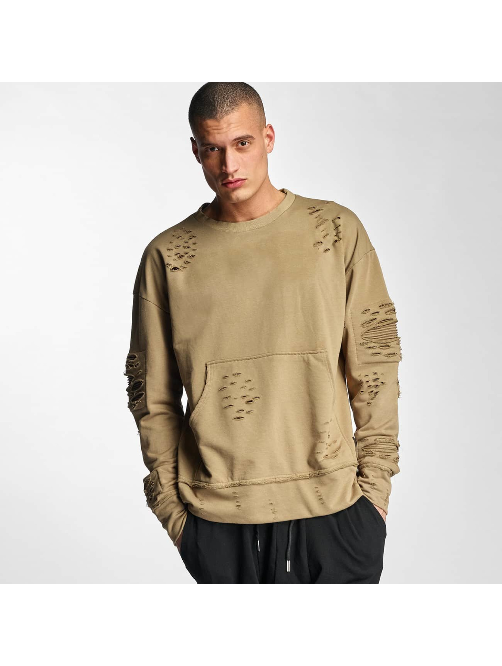 Sixth June Jumper Destroyed Biker beige