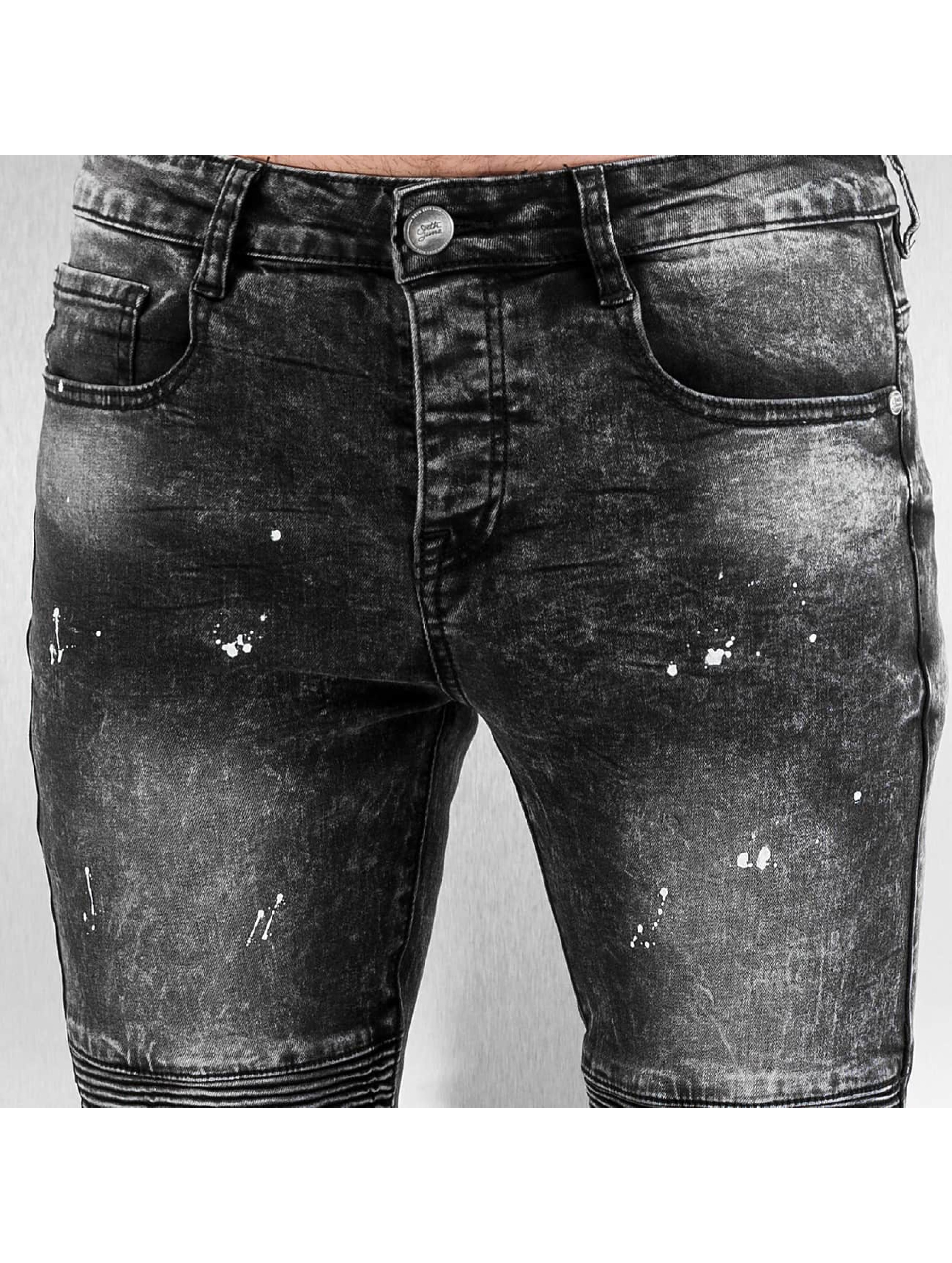 Sixth June Kapeat farkut Destroyed Biker Denim musta
