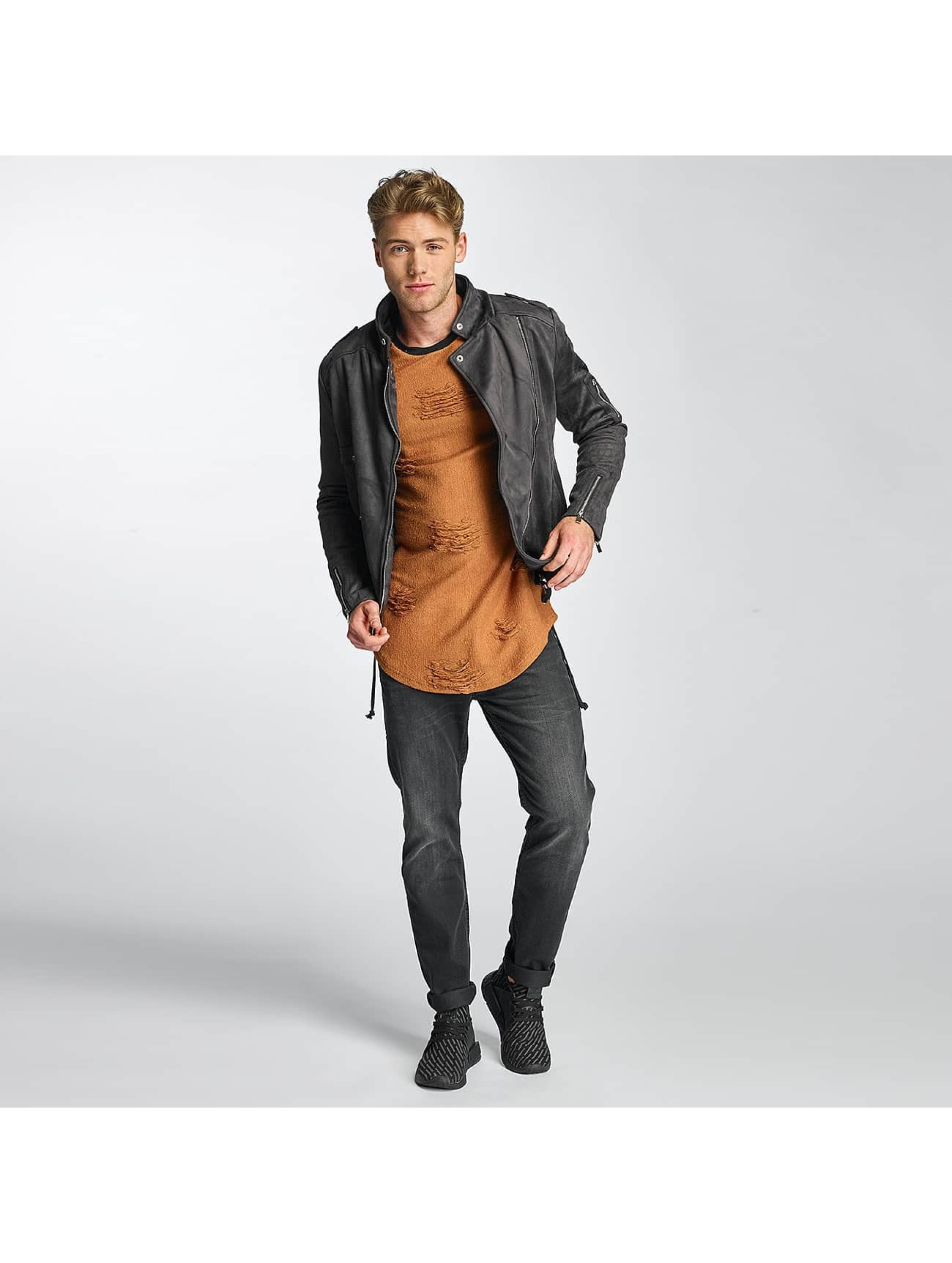 Sixth June Leather Jacket Perfecto gray