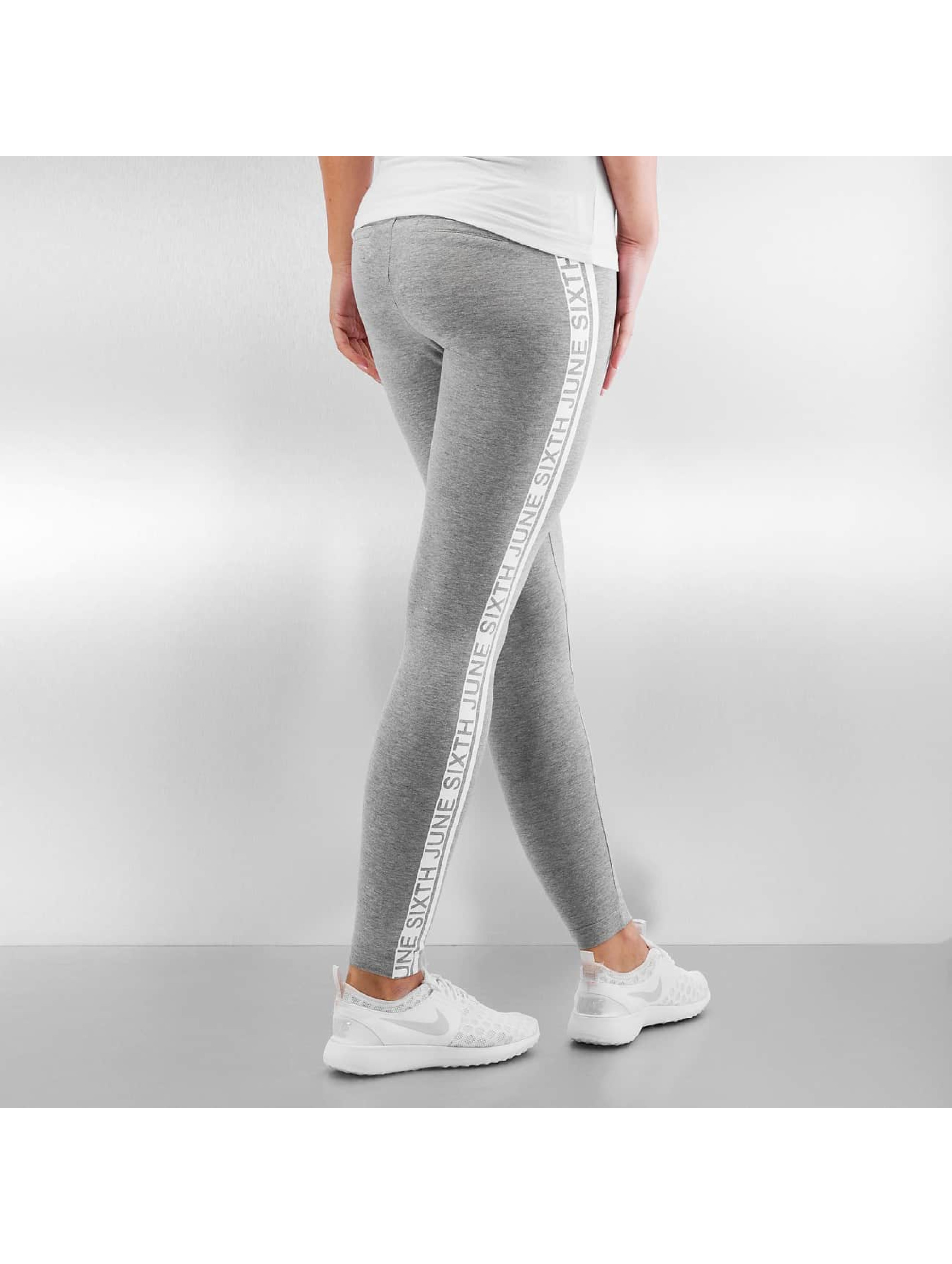 Sixth June Legging Sport Logo grau