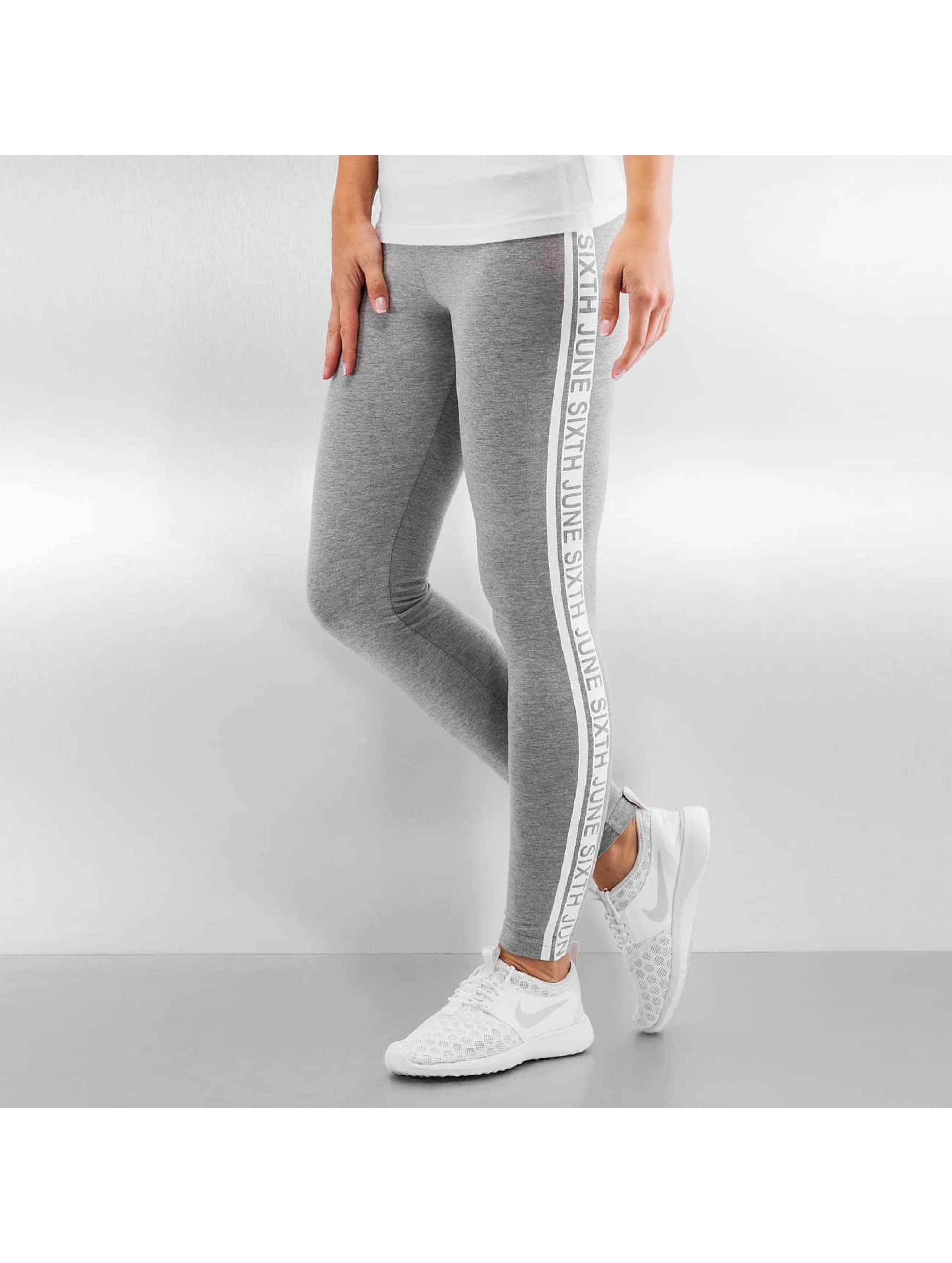 Sixth June Legging Sport Logo grijs