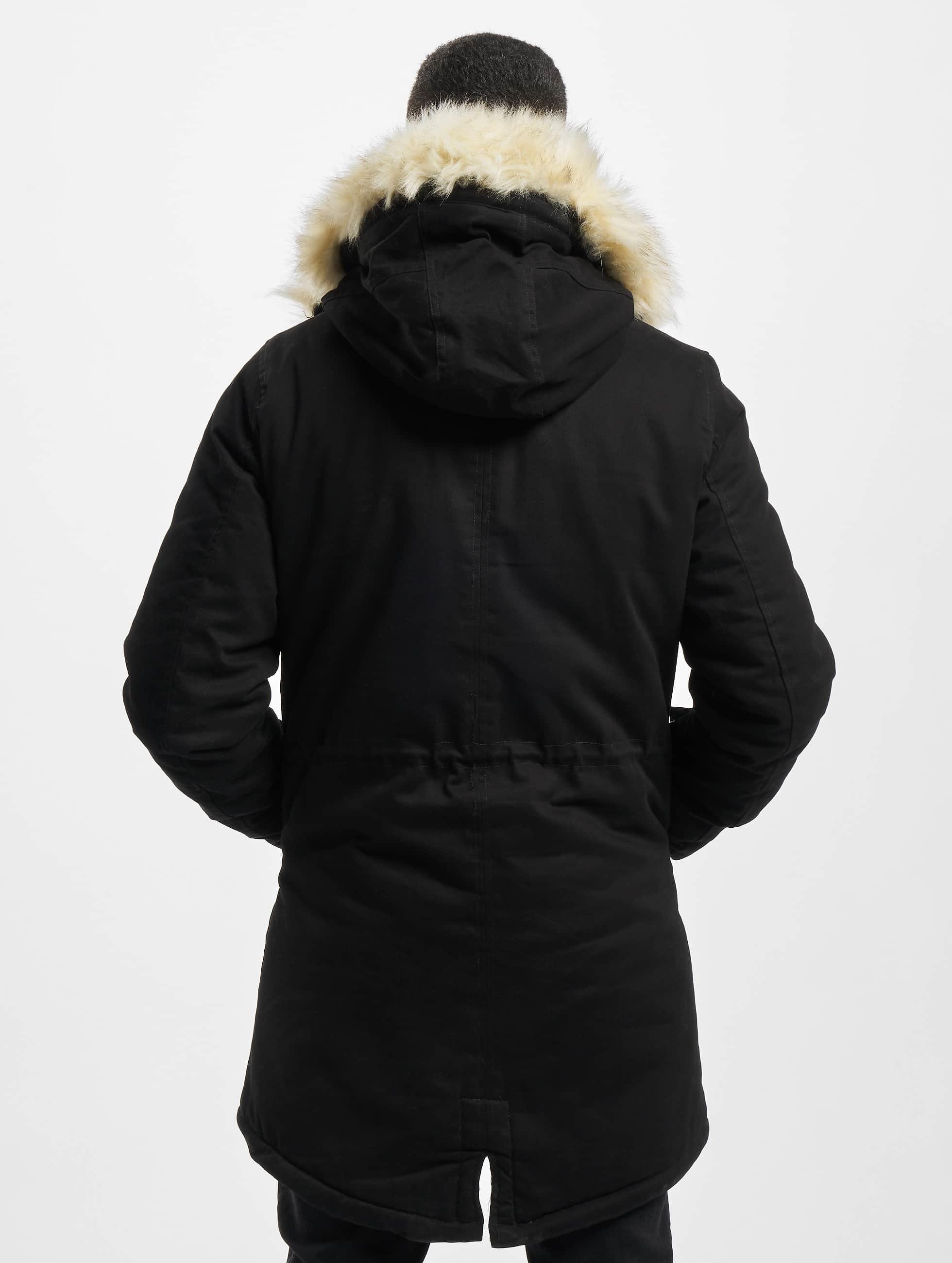 Sixth June Fur noir Manteau hiver homme