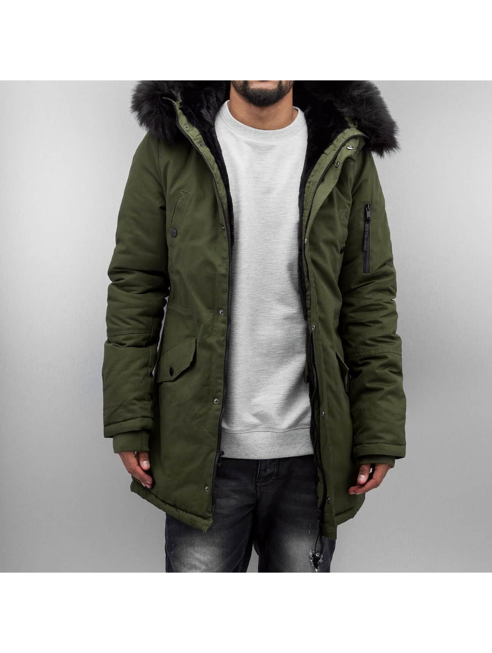 Sixth June Fur olive Manteau hiver homme