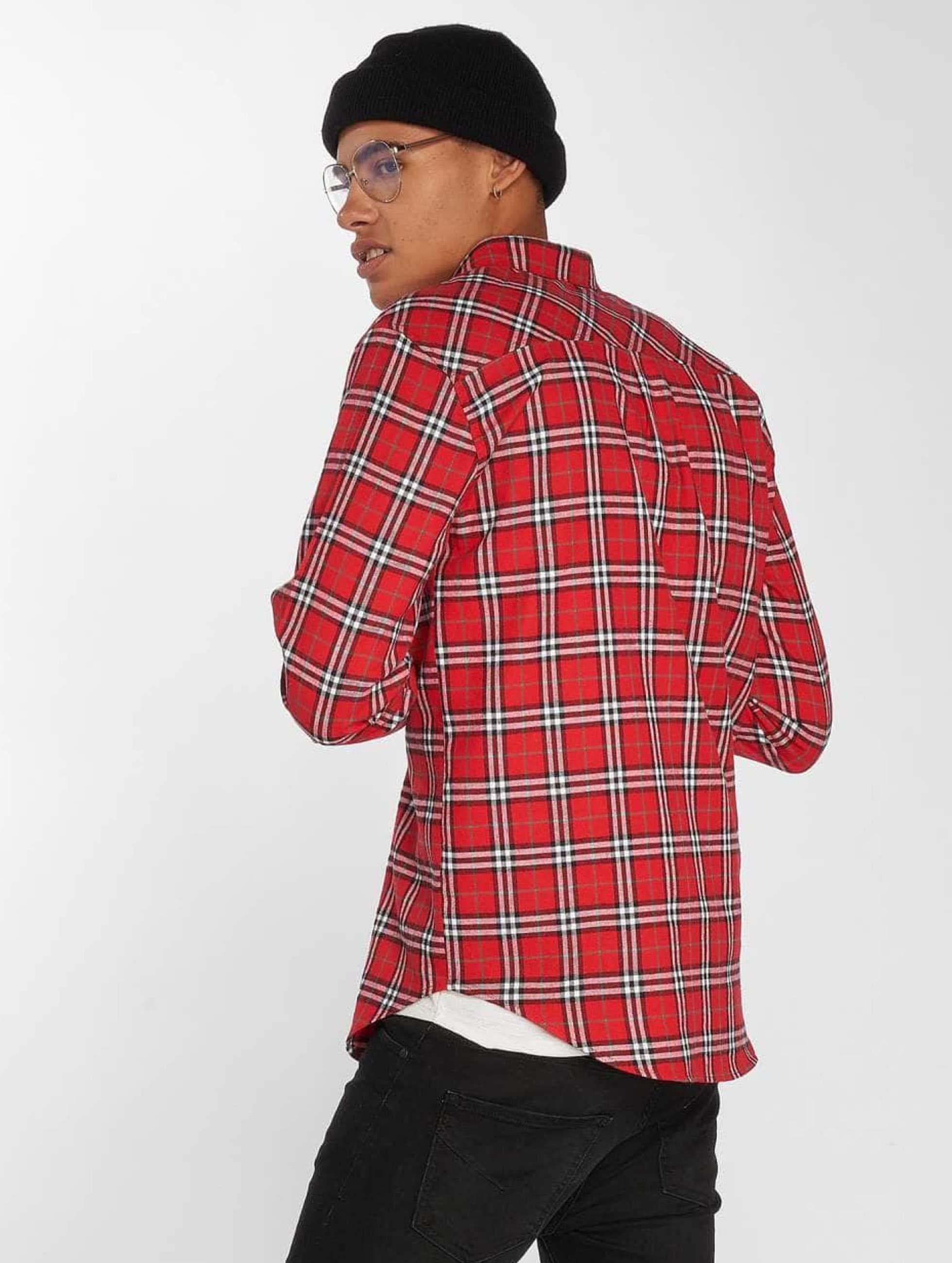 Sixth June overhemd Karo rood