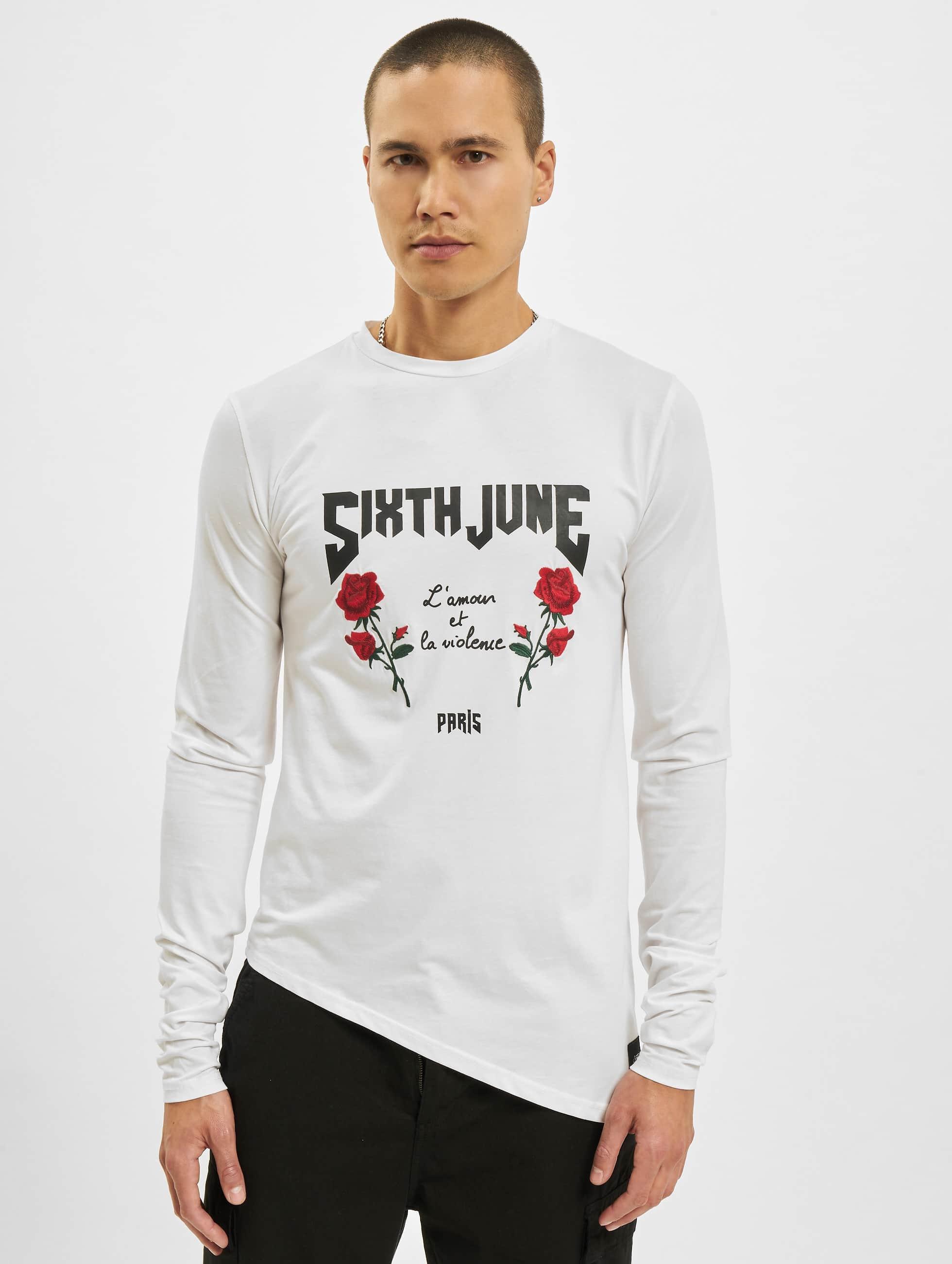 Sixth June Pitkähihaiset paidat Tōhoku valkoinen