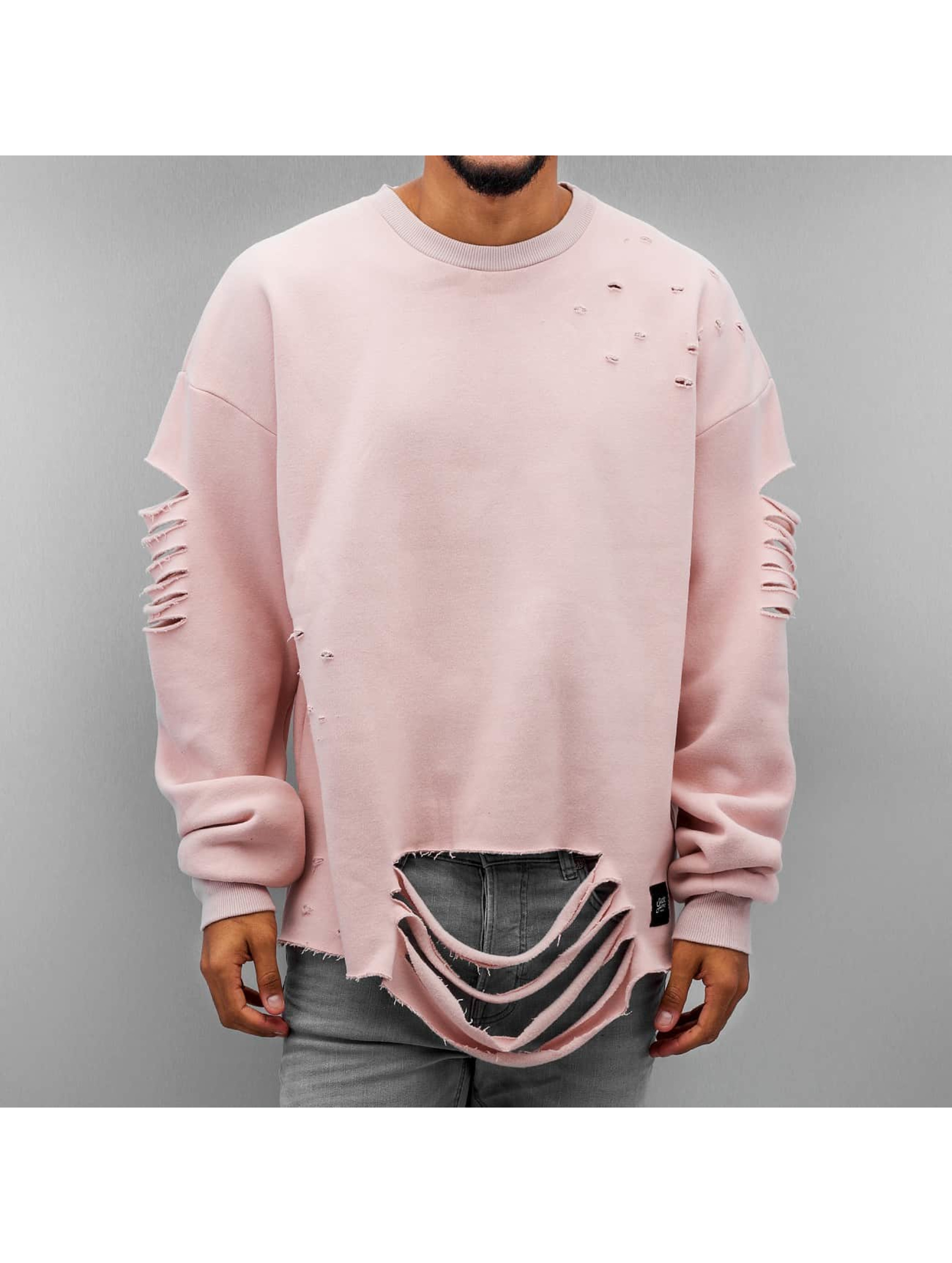 Sixth June Haut / Pullover Ultra Destroyed Oversized en rose