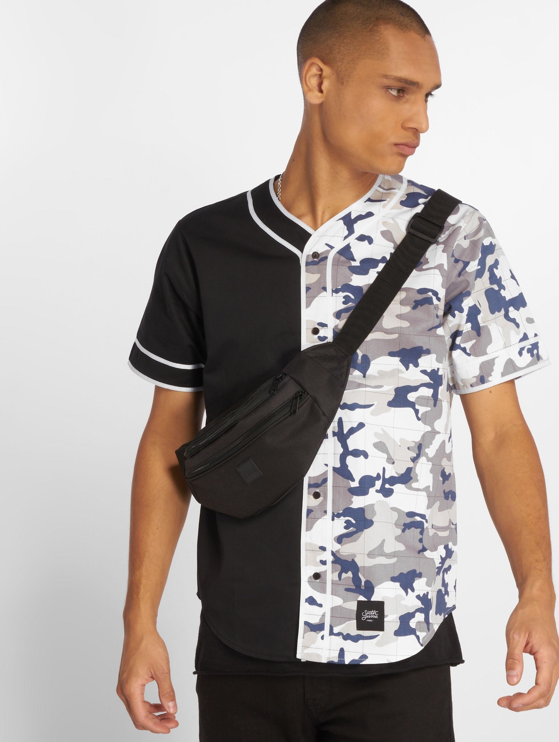 Sixth June Shirt Bicoloured black