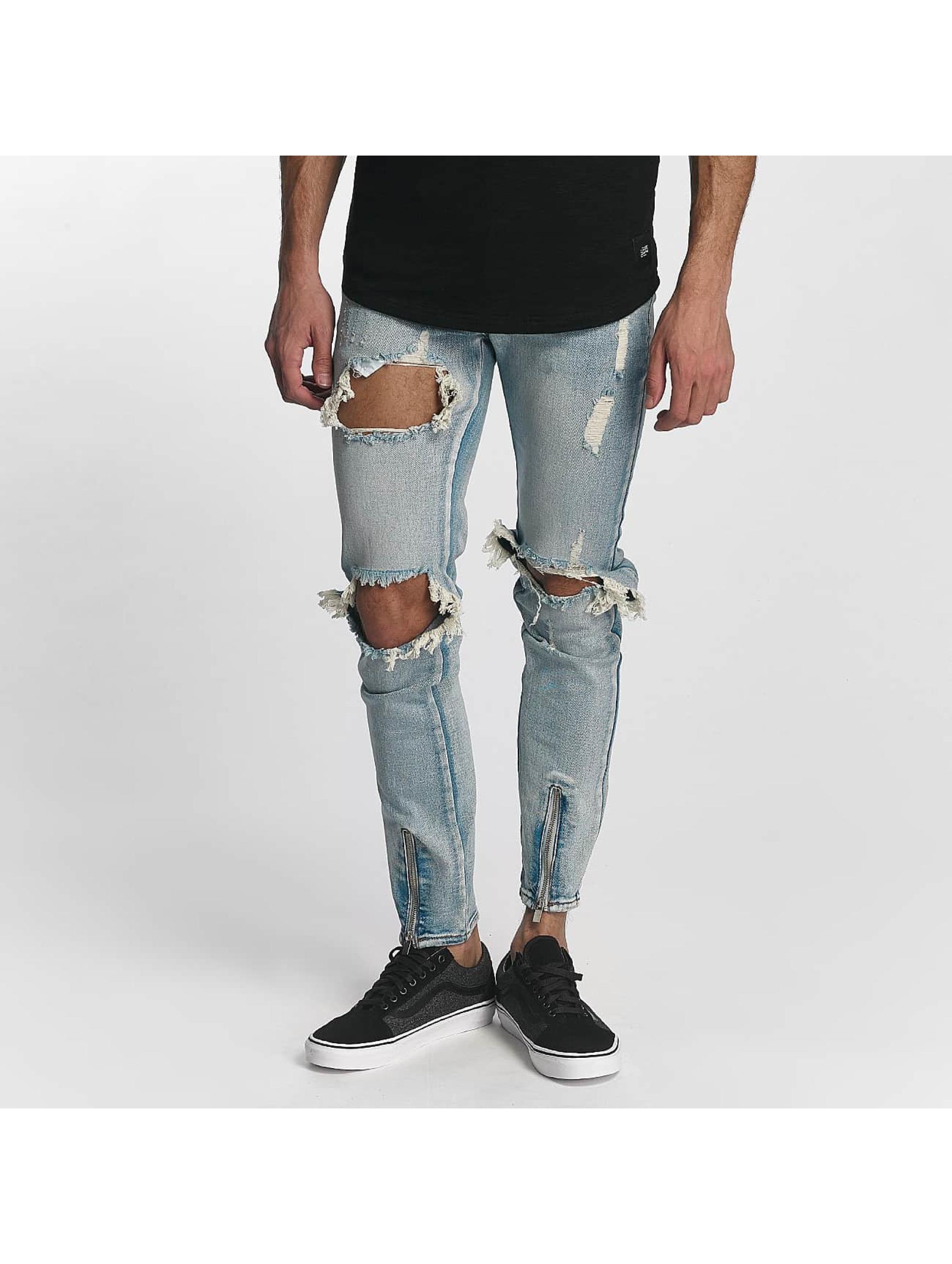Sixth June Skinny Jeans Destroyed blau