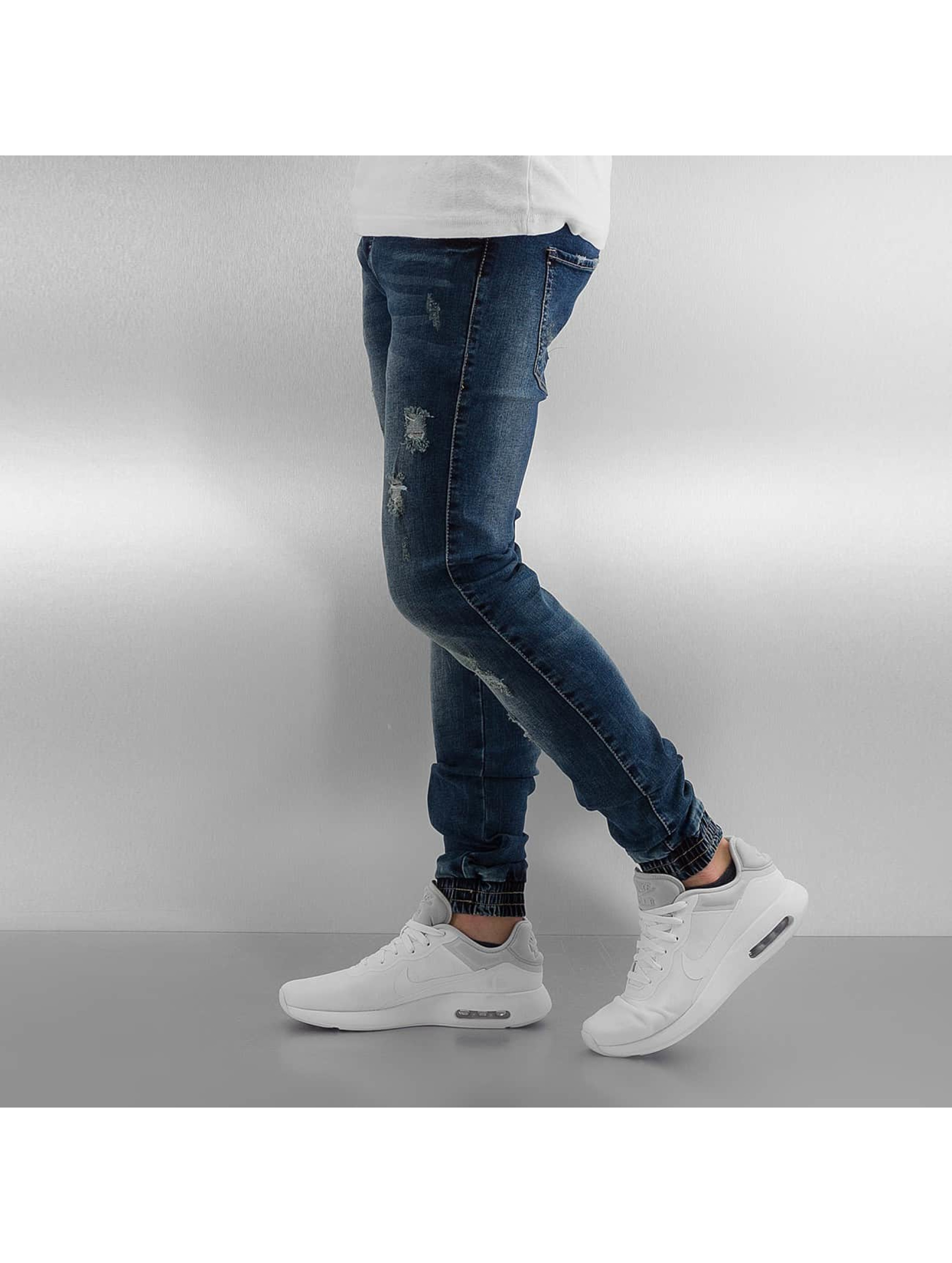 Sixth June Skinny Jeans Elasticated blue