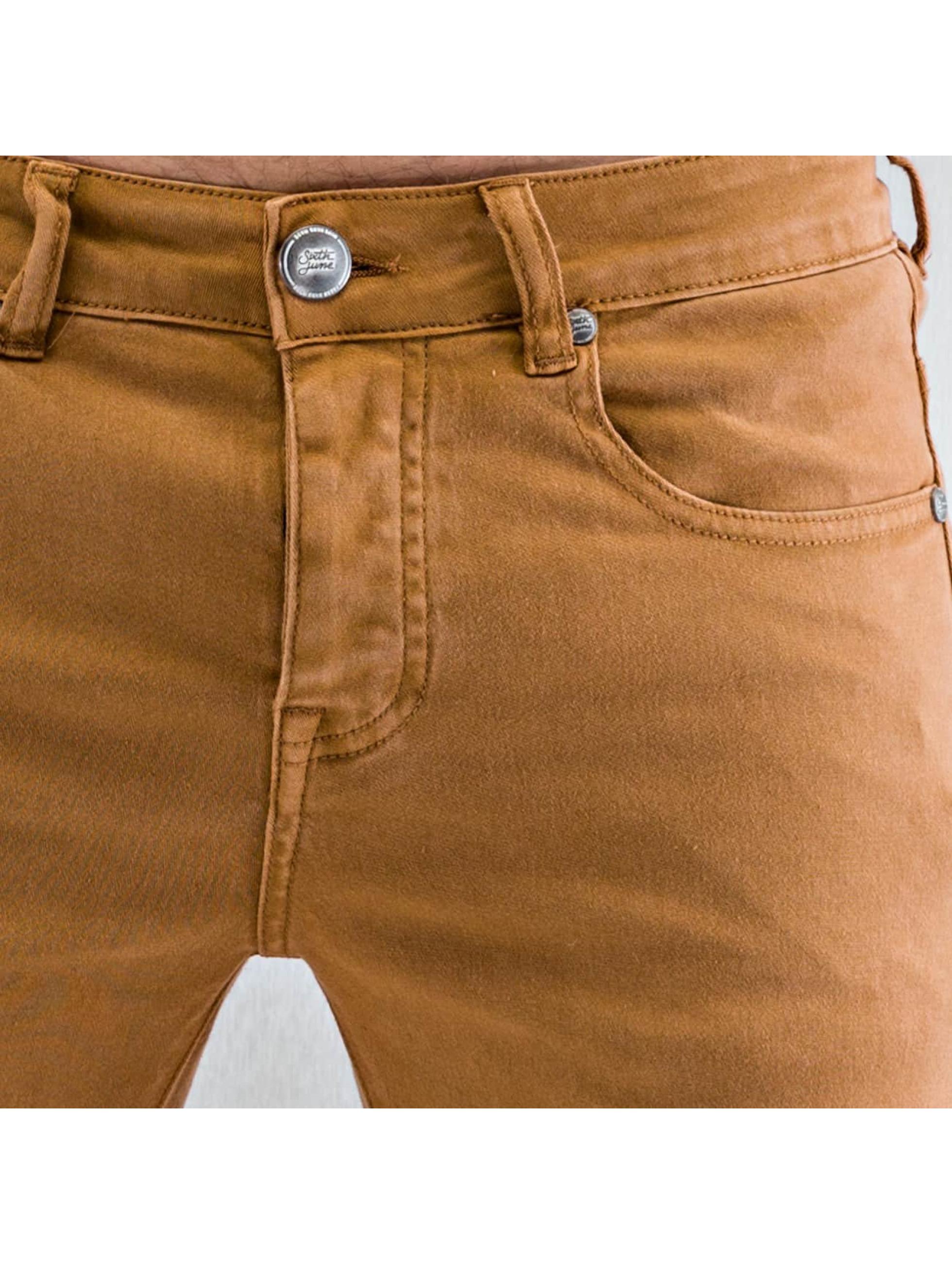 Sixth June Skinny Jeans Radge Biker braun