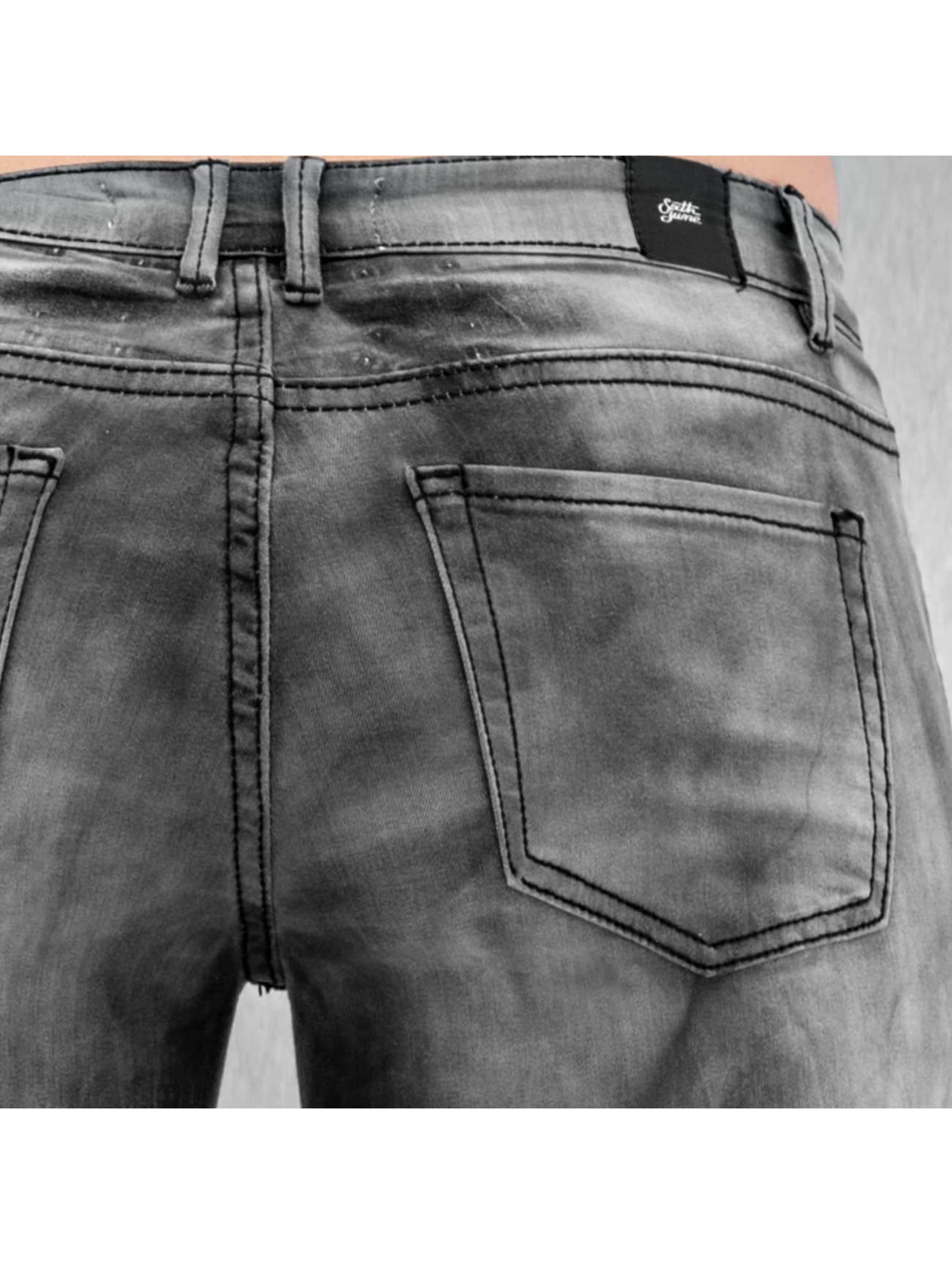 Sixth June Skinny Jeans Tie and Dye grau