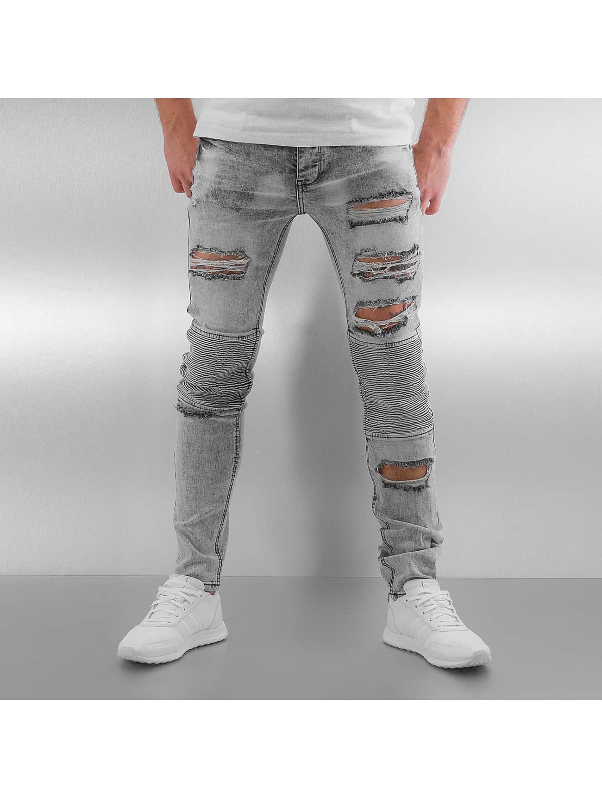 Sixth June Skinny Jeans Radge Biker grey