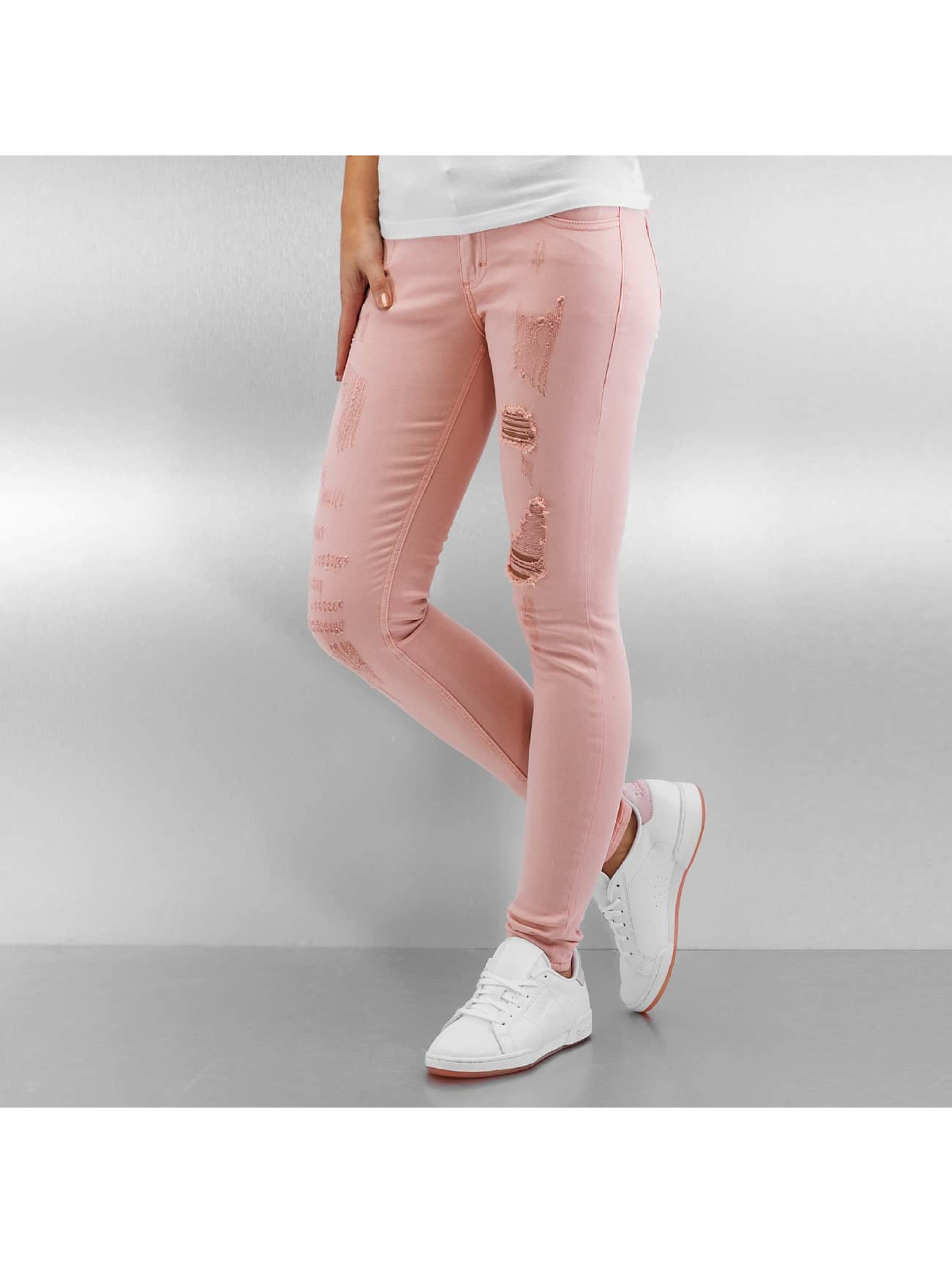 Skinny Jeans Destroyed in rosa