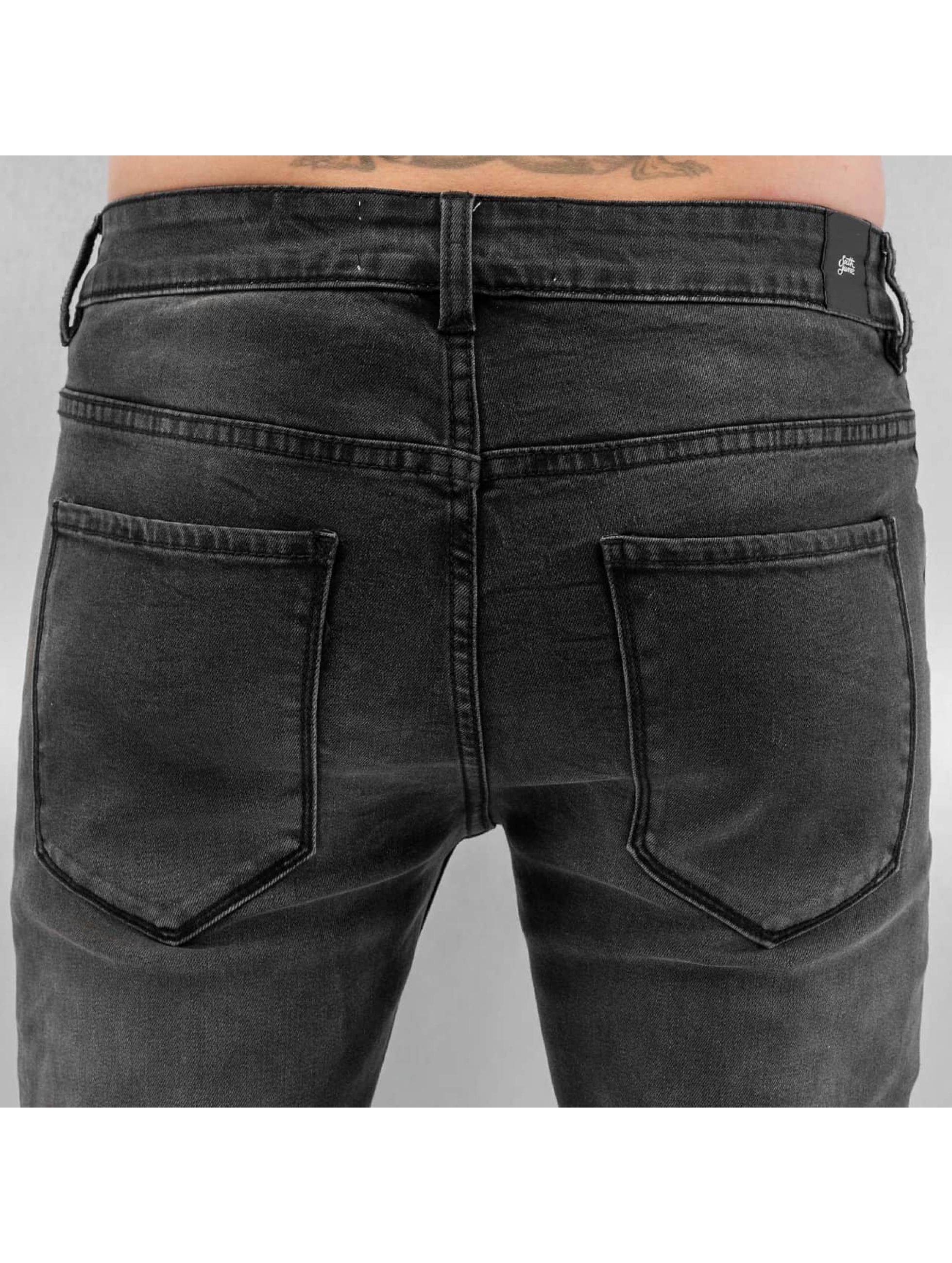 Sixth June Skinny Jeans Biker schwarz