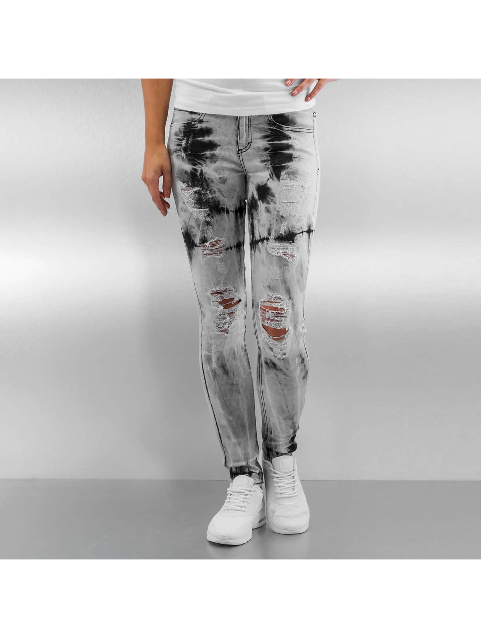 Sixth June Skinny Jeans Tie and Dye szary