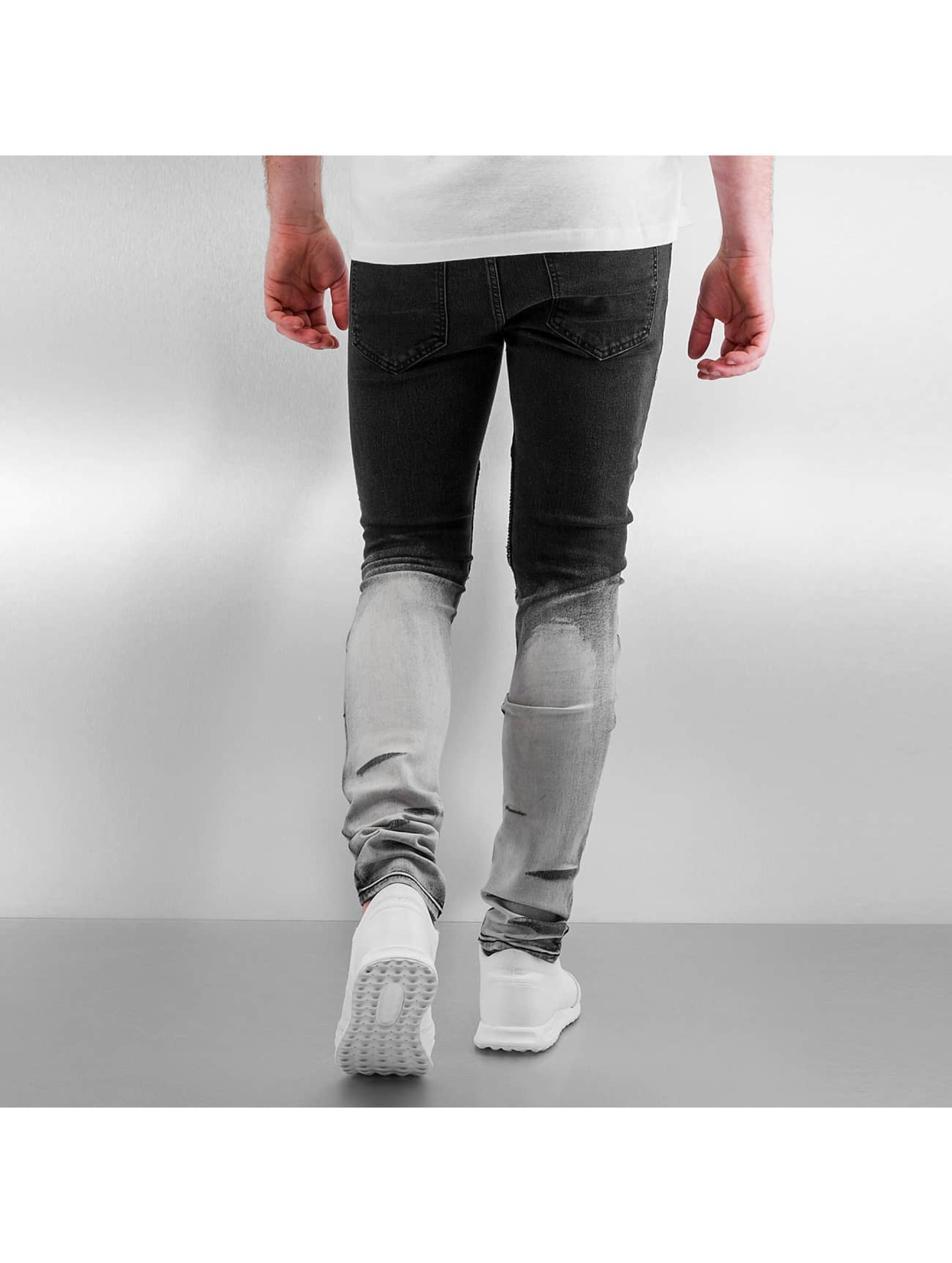 Sixth June Skinny jeans Radge Biker zwart