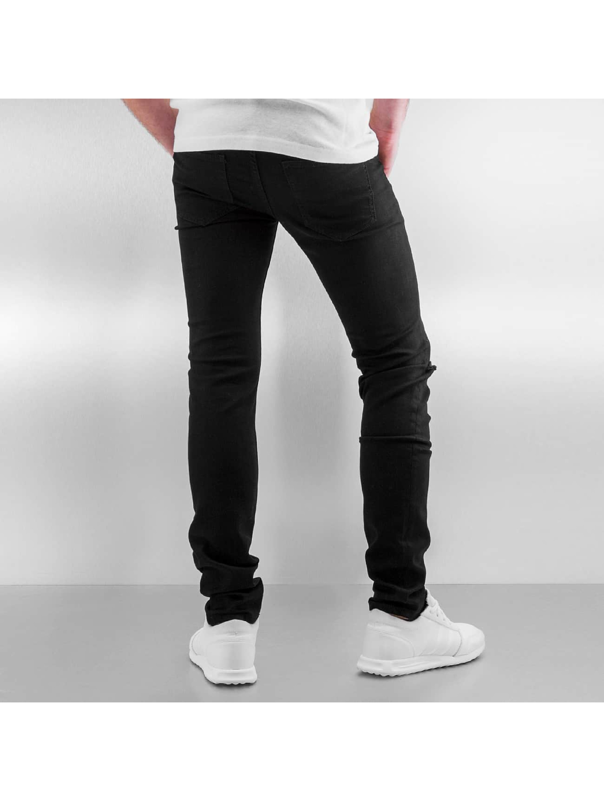 Sixth June Skinny jeans Opened On Knee zwart