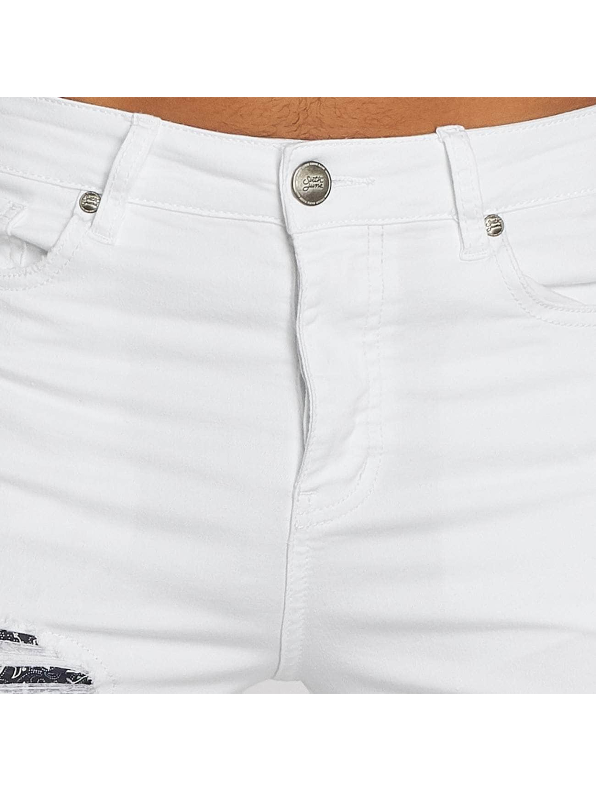 Sixth June Slim Fit Jeans Hudson hvit