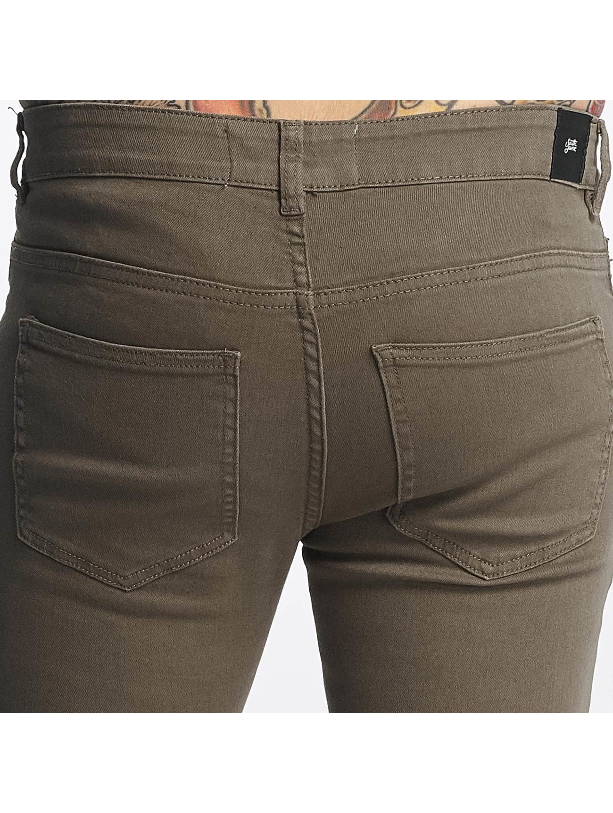 Sixth June Slim Fit Jeans Destroyed Knee oliven