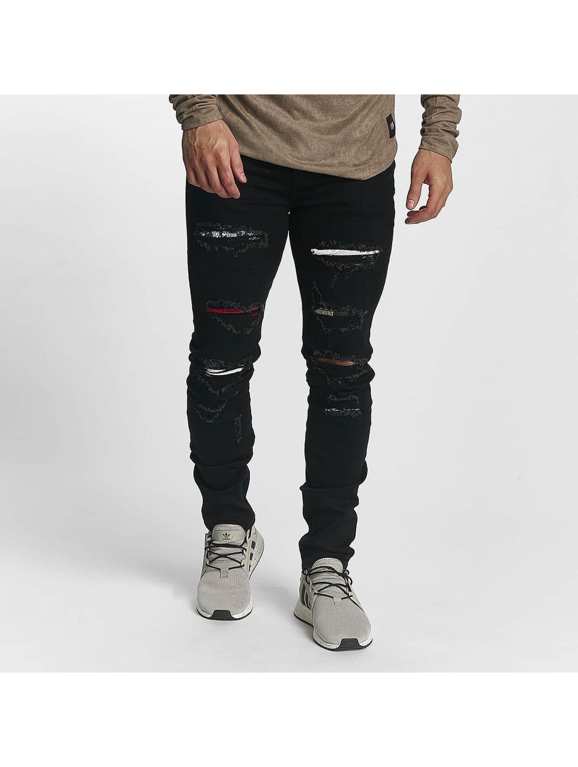 Sixth June Slim Fit Jeans basic Slimfit schwarz