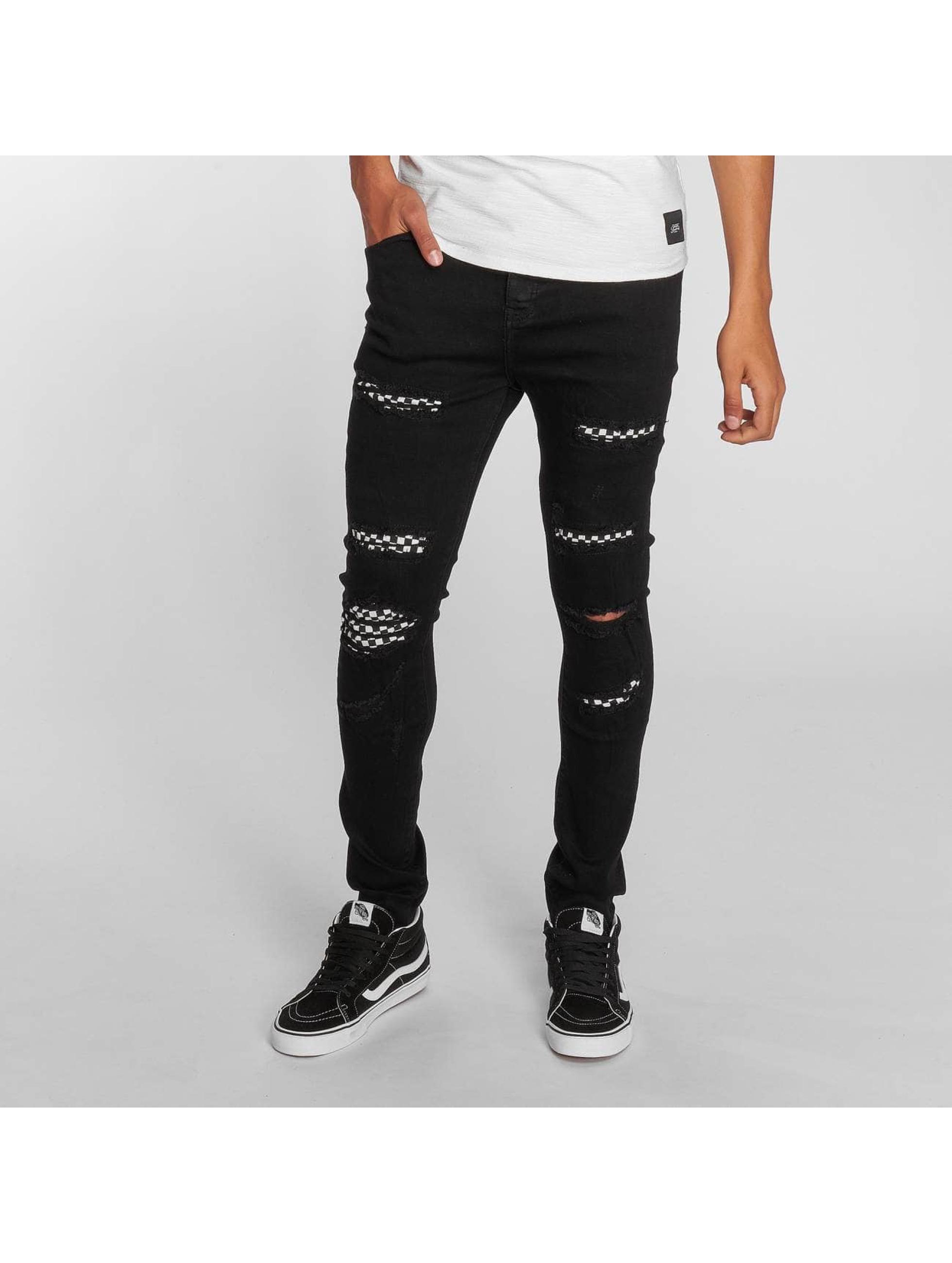 Sixth June Slim Fit Jeans Slim zwart