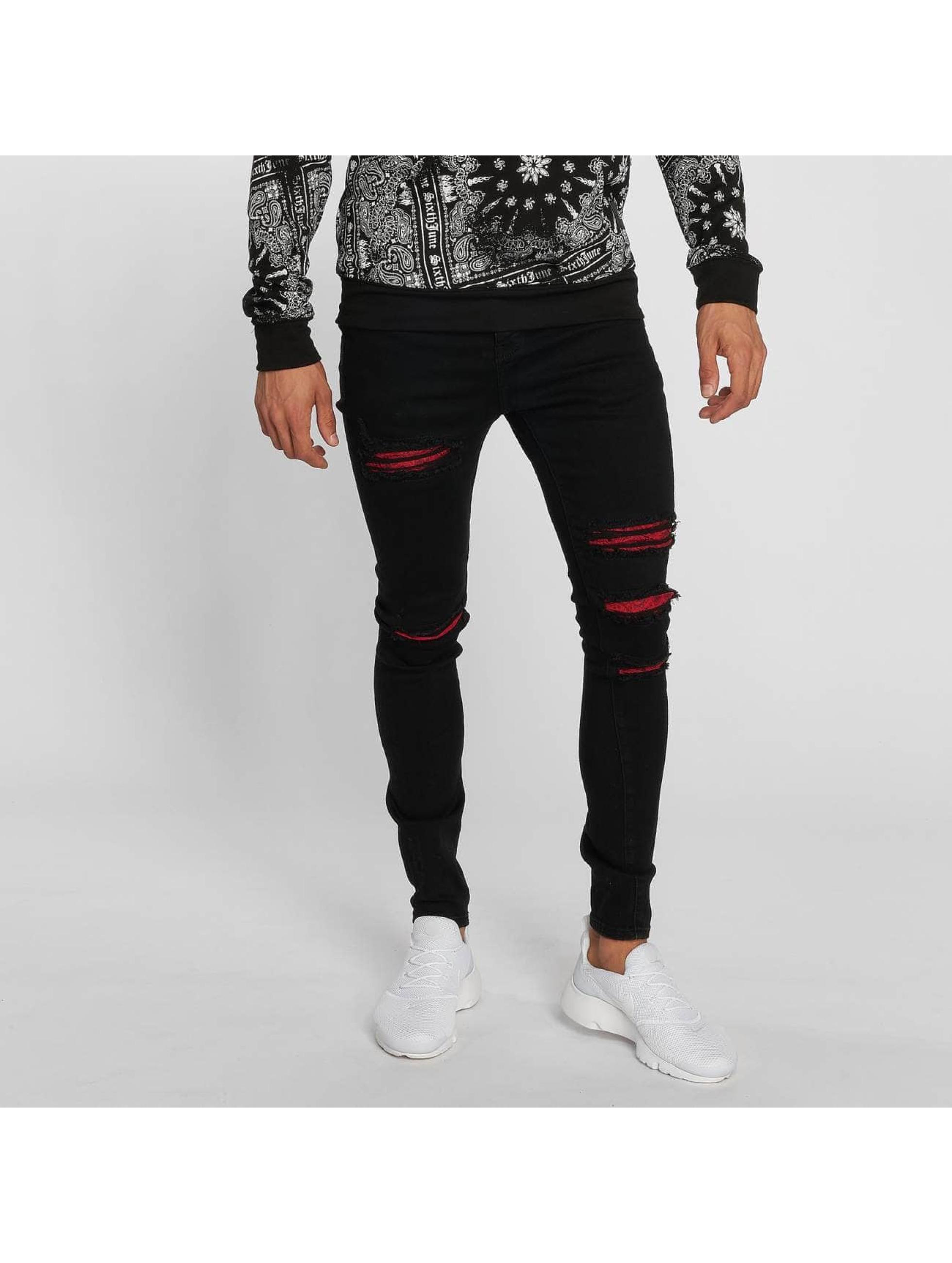 Sixth June Slim Fit Jeans Hudson zwart