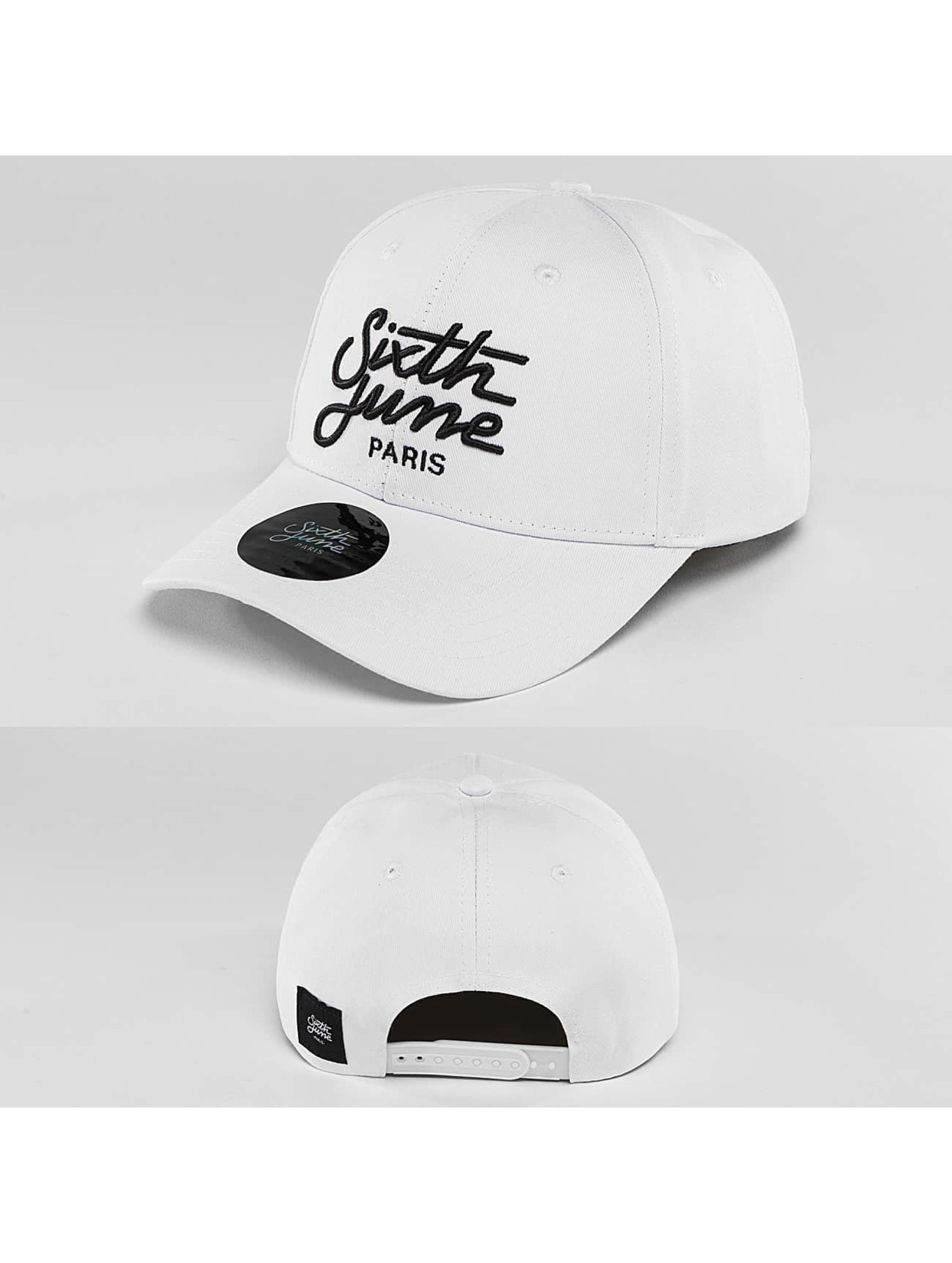 Sixth June Snapback Caps Curved Logo bialy