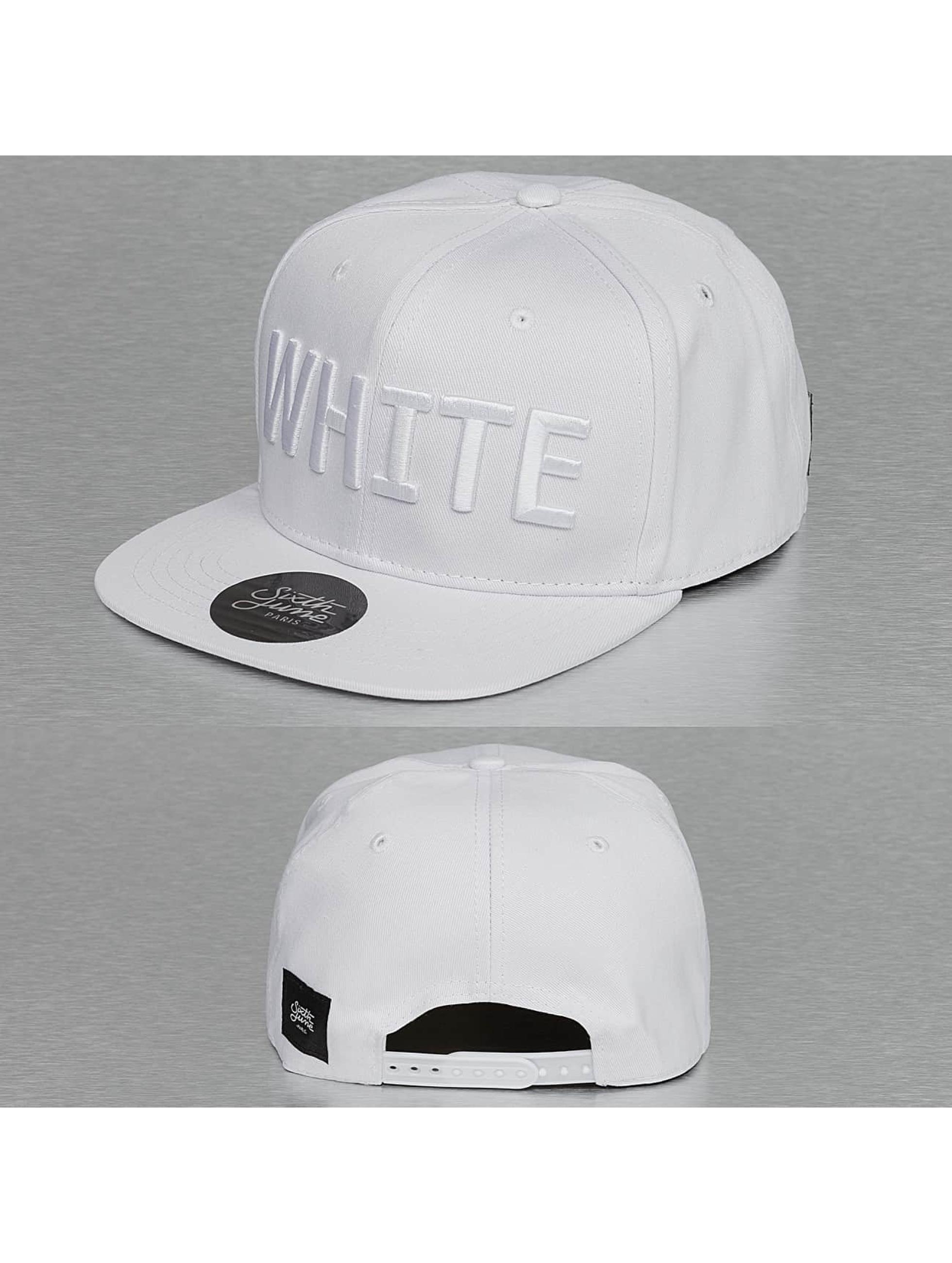 Sixth June Snapback Caps Basic hvit