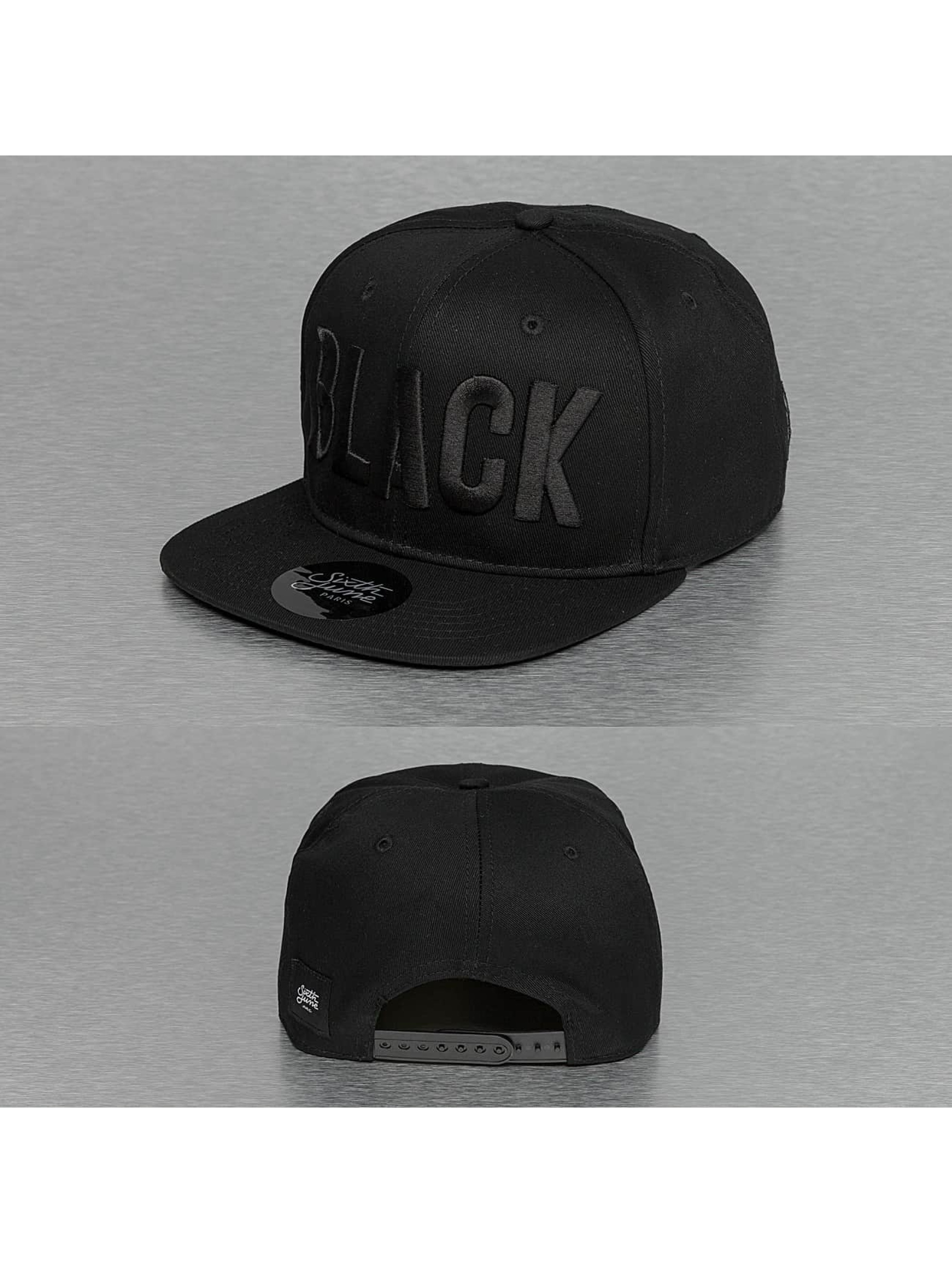 Sixth June Snapback Caps Basic musta