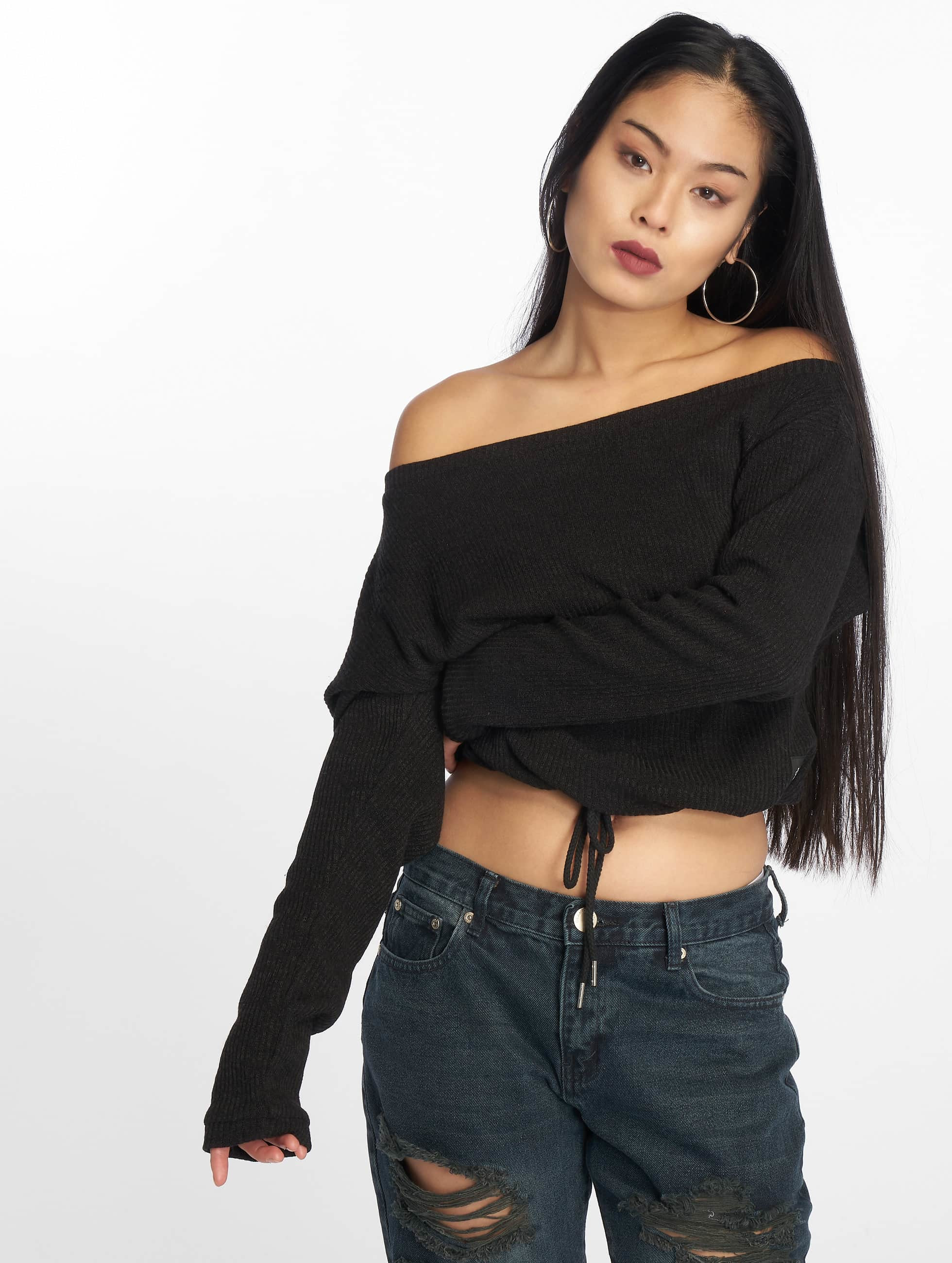 Sixth June Sweat & Pull Oversize Cold Shoulder noir