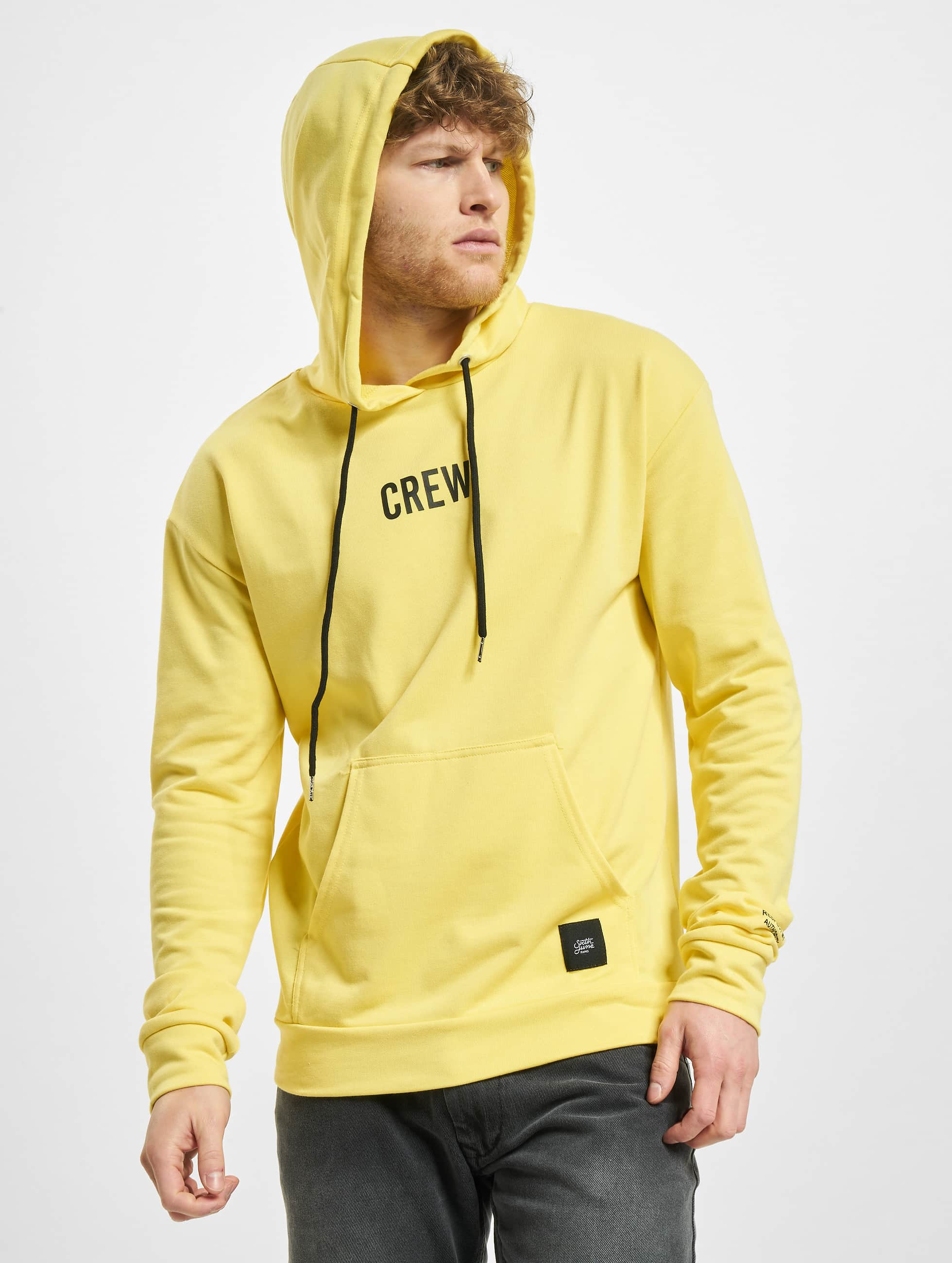 Sixth June Sweat capuche Crew jaune