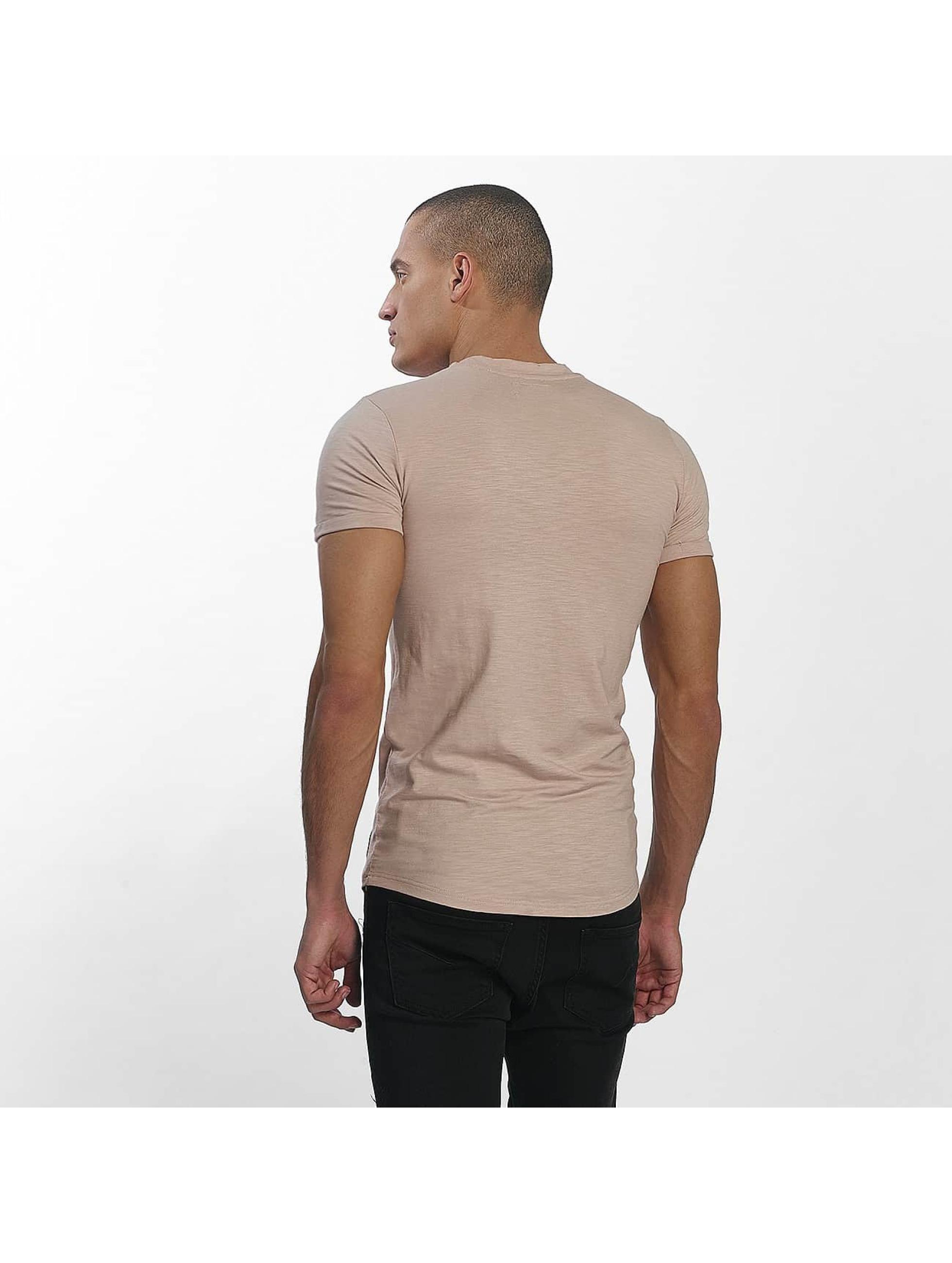 Sixth June T-Shirt Skinny Round Bottom beige