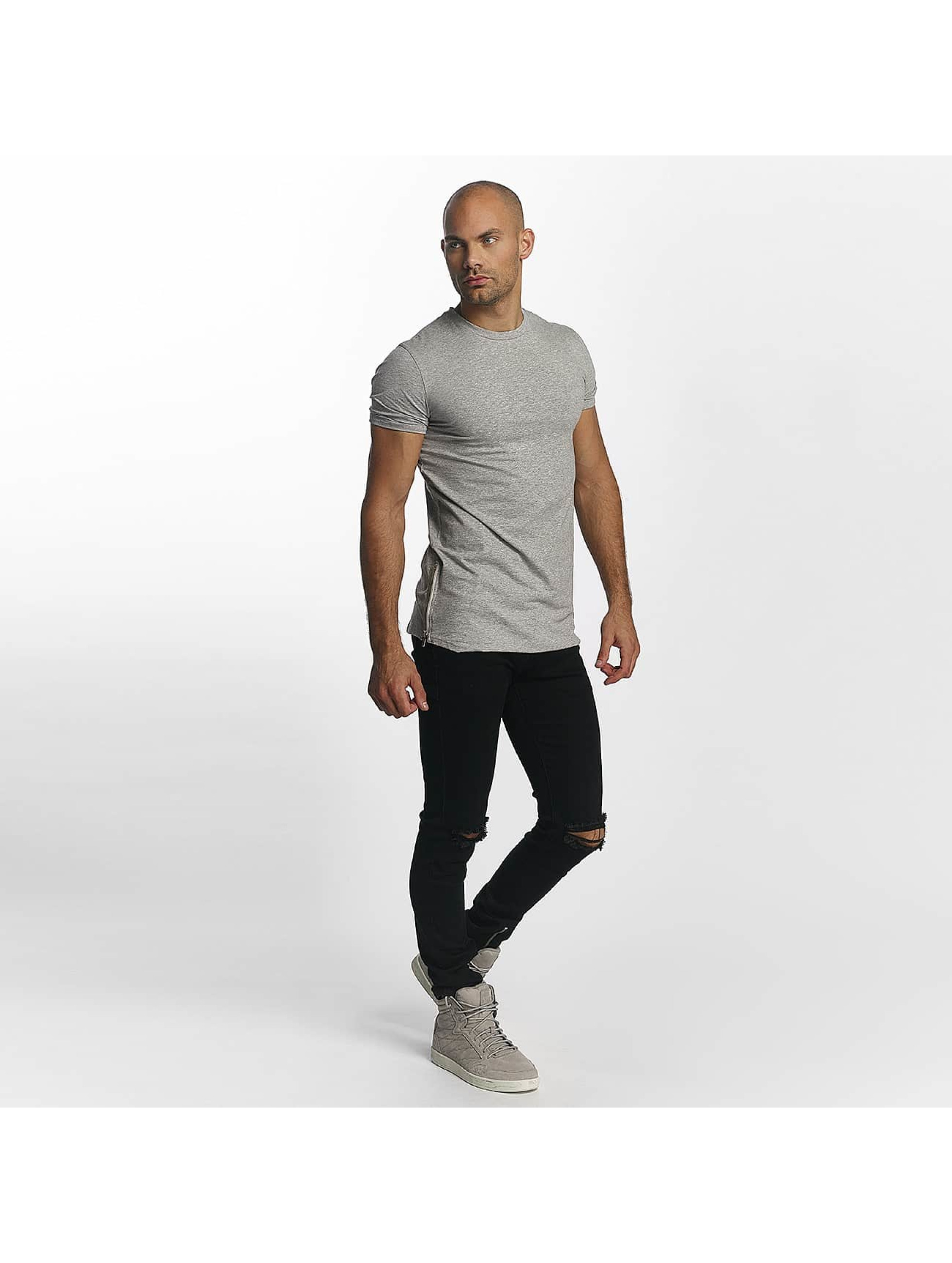 Sixth June T-Shirt Skinny Round Bottom gris