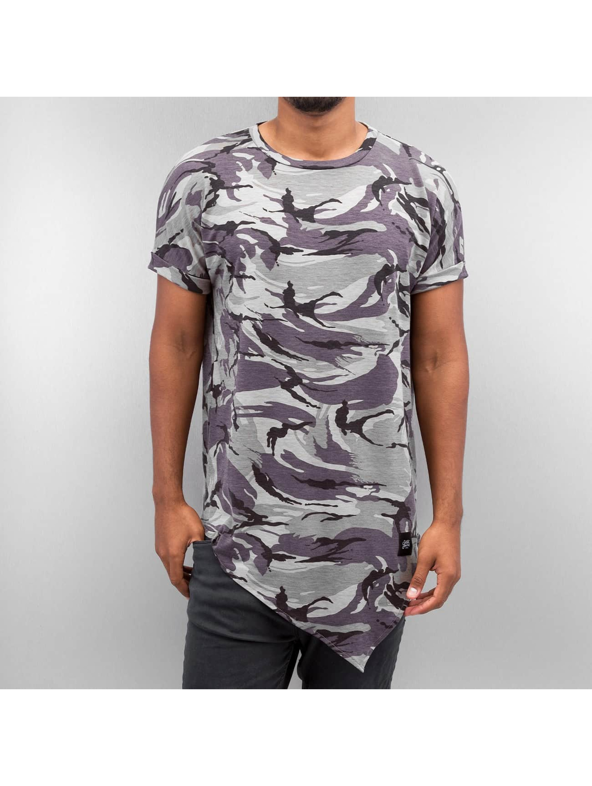 Sixth June T-shirt long oversize Asymmetric camouflage