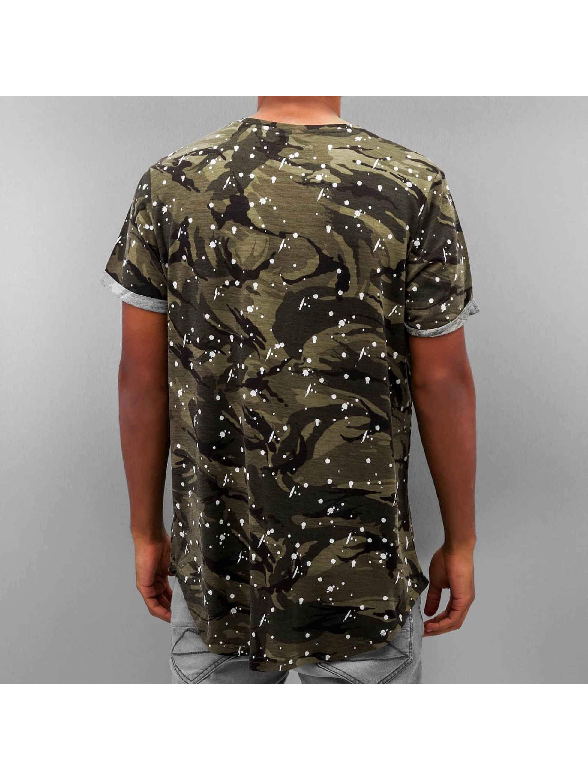 Sixth June T-shirt long oversize Rounded Bottom camouflage