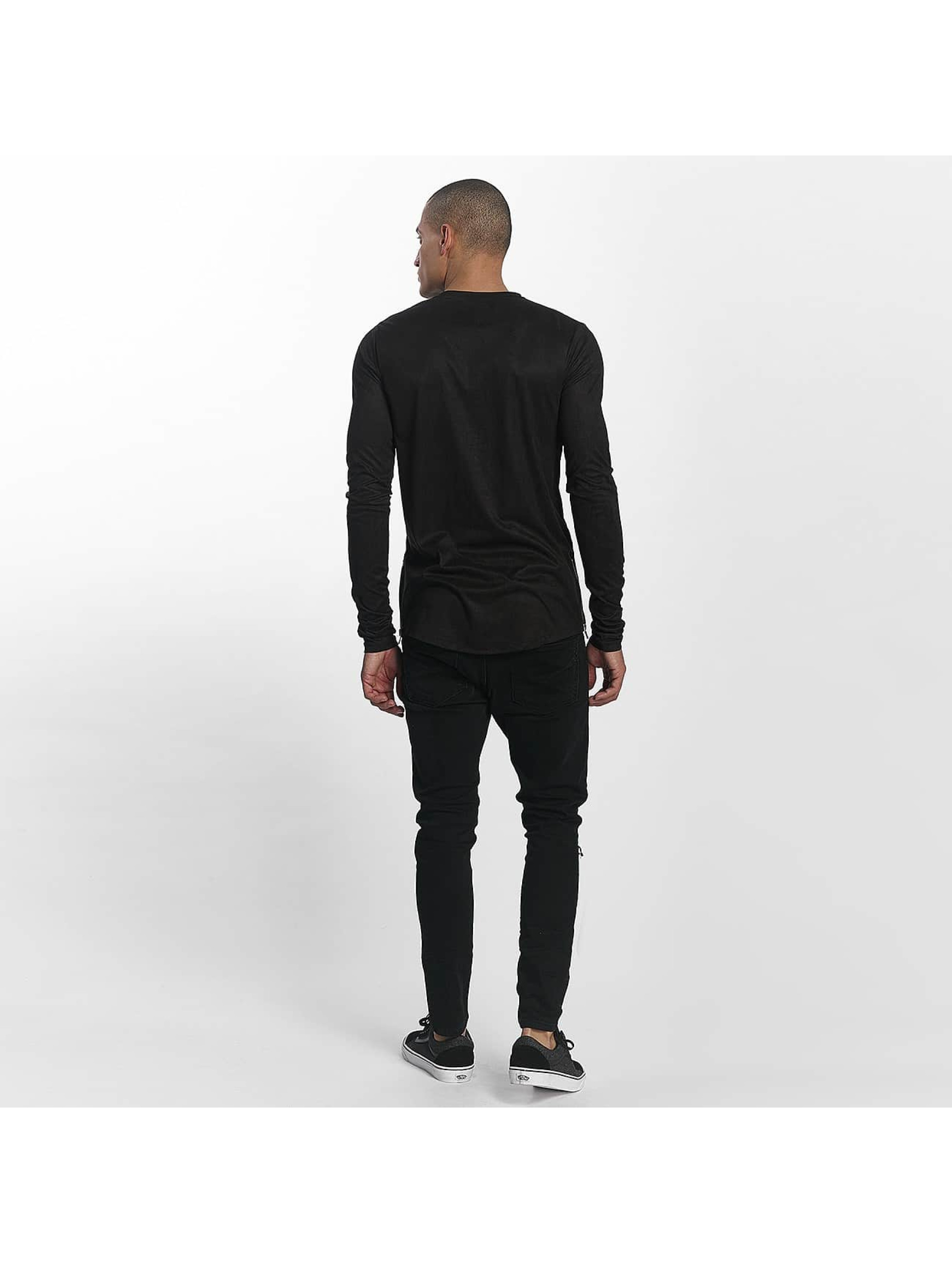 Sixth June T-Shirt manches longues Skinny Basic noir