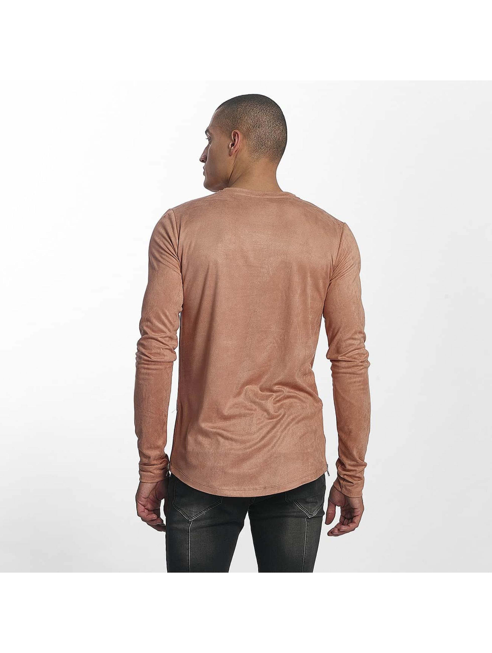 Sixth June T-Shirt manches longues Skinny Basic rose