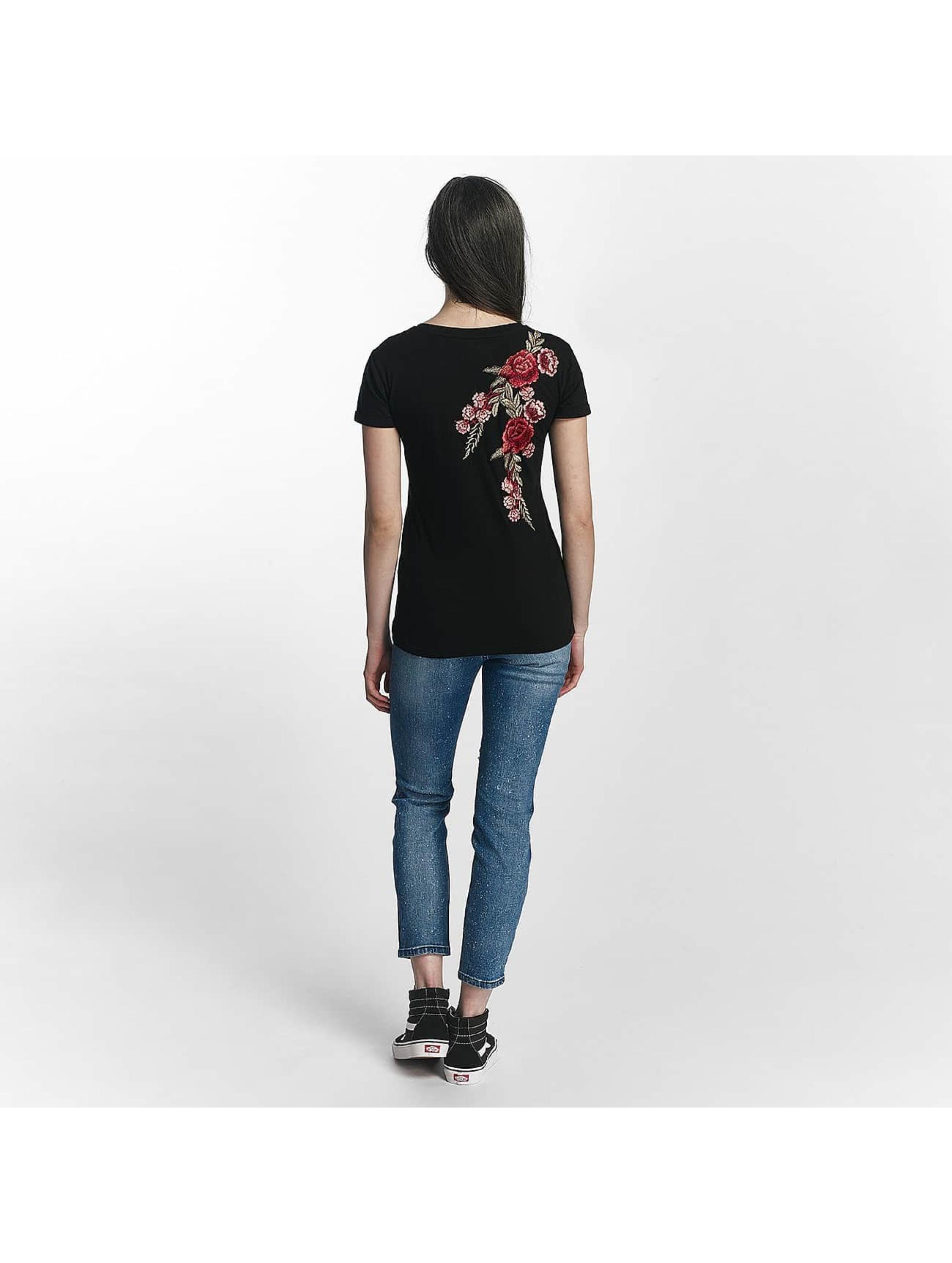 Sixth June T-Shirt Rose Stich noir