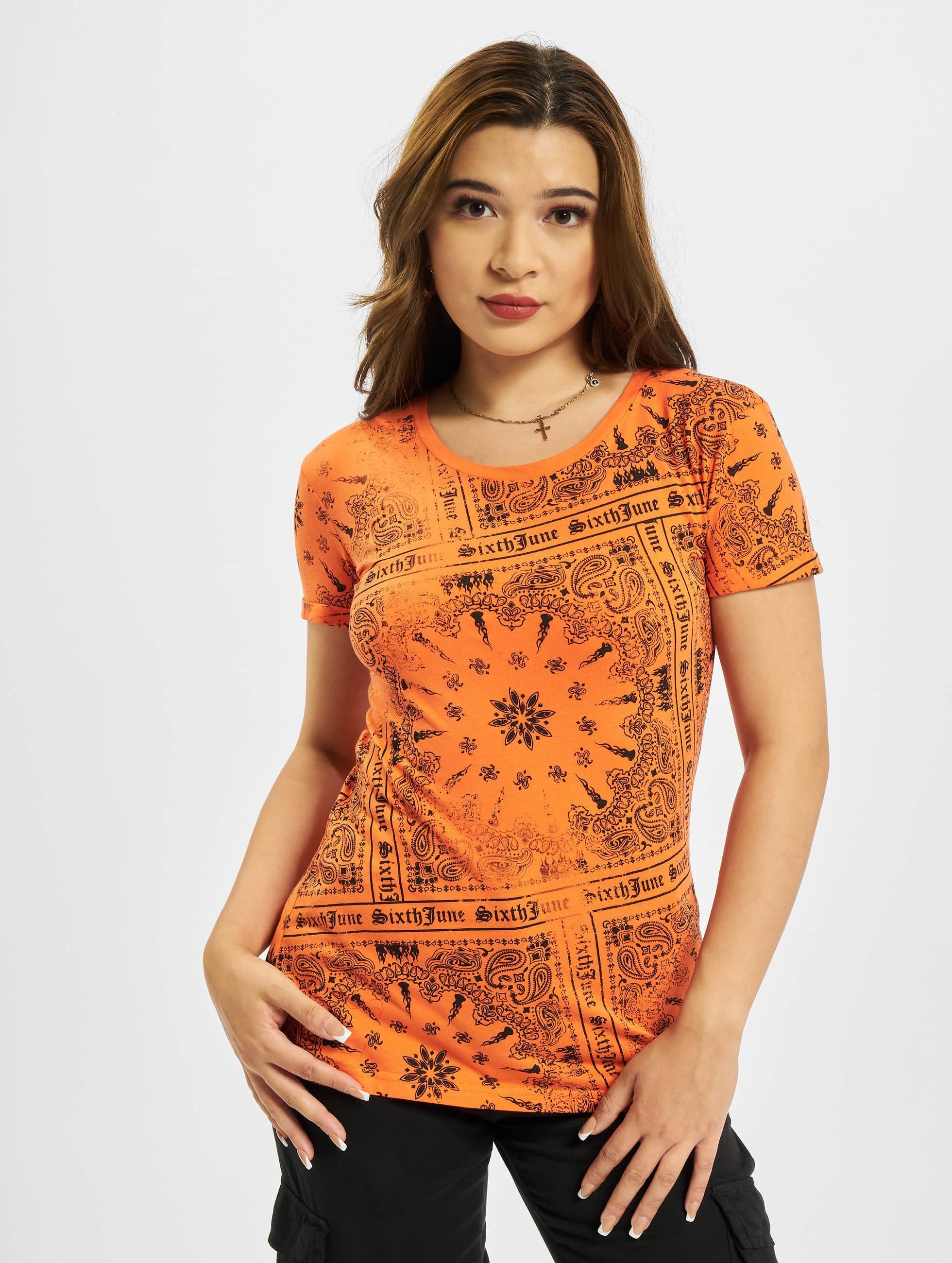 Sixth June t-shirt Emilia oranje