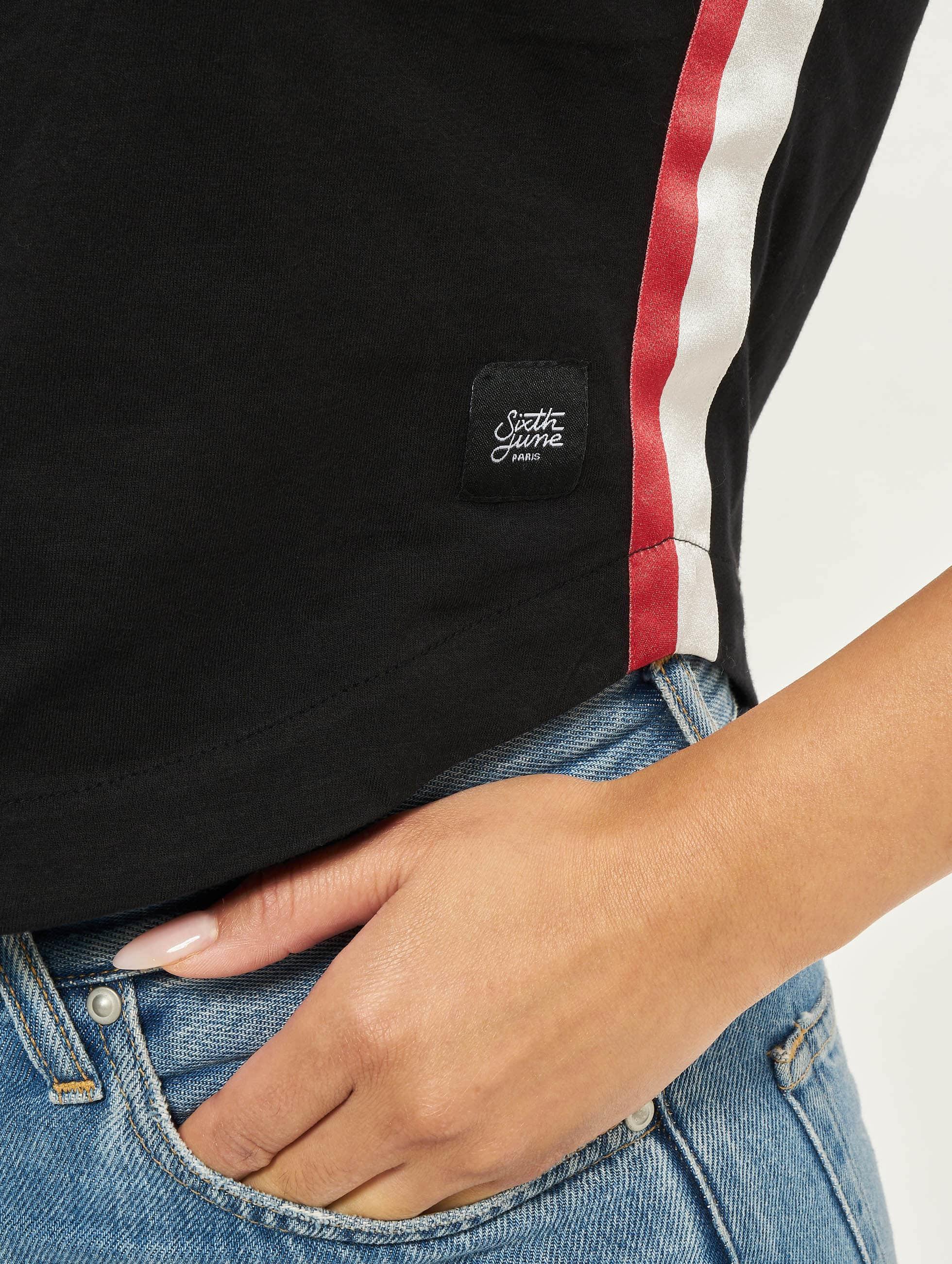 Sixth June T-Shirt Shorty schwarz