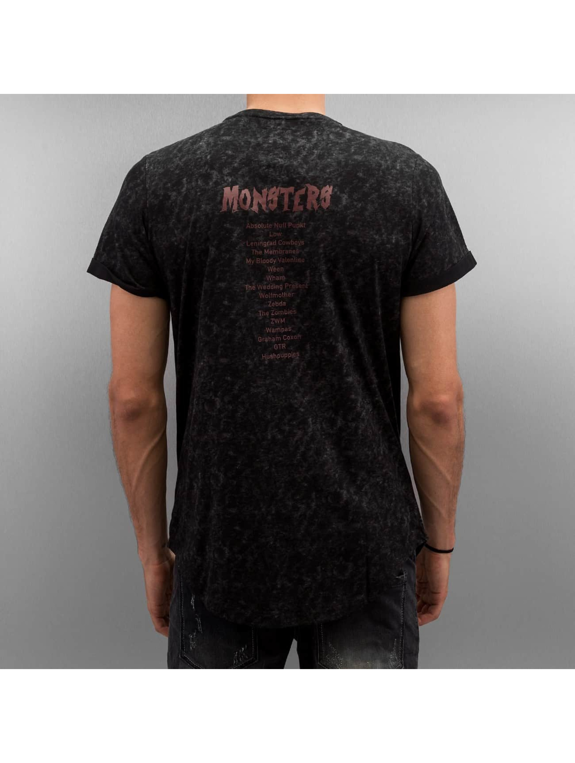 Sixth June T-shirt Rounded Bottom Acid svart