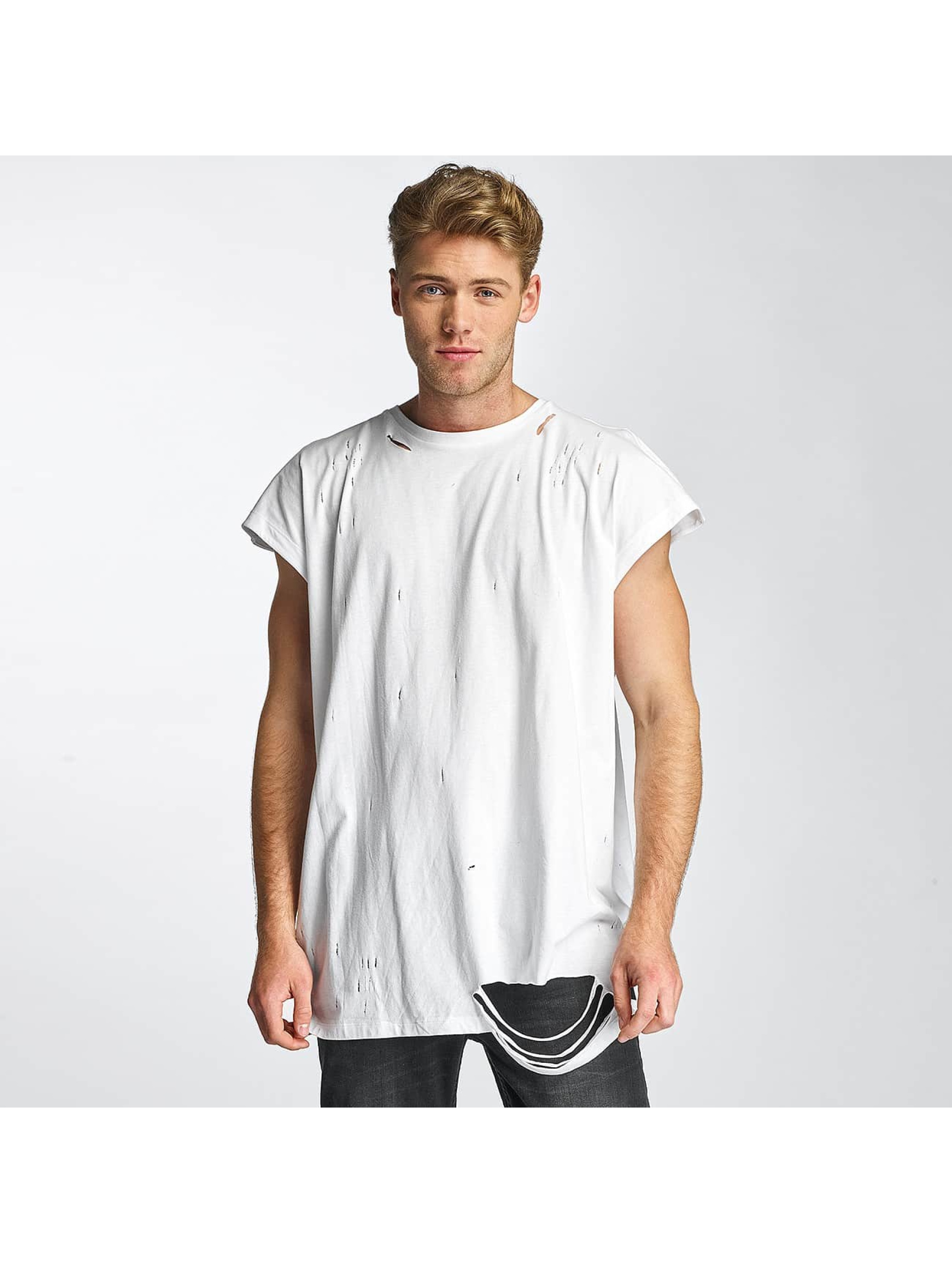 Sixth June T-Shirt Destroyed Muscle weiß