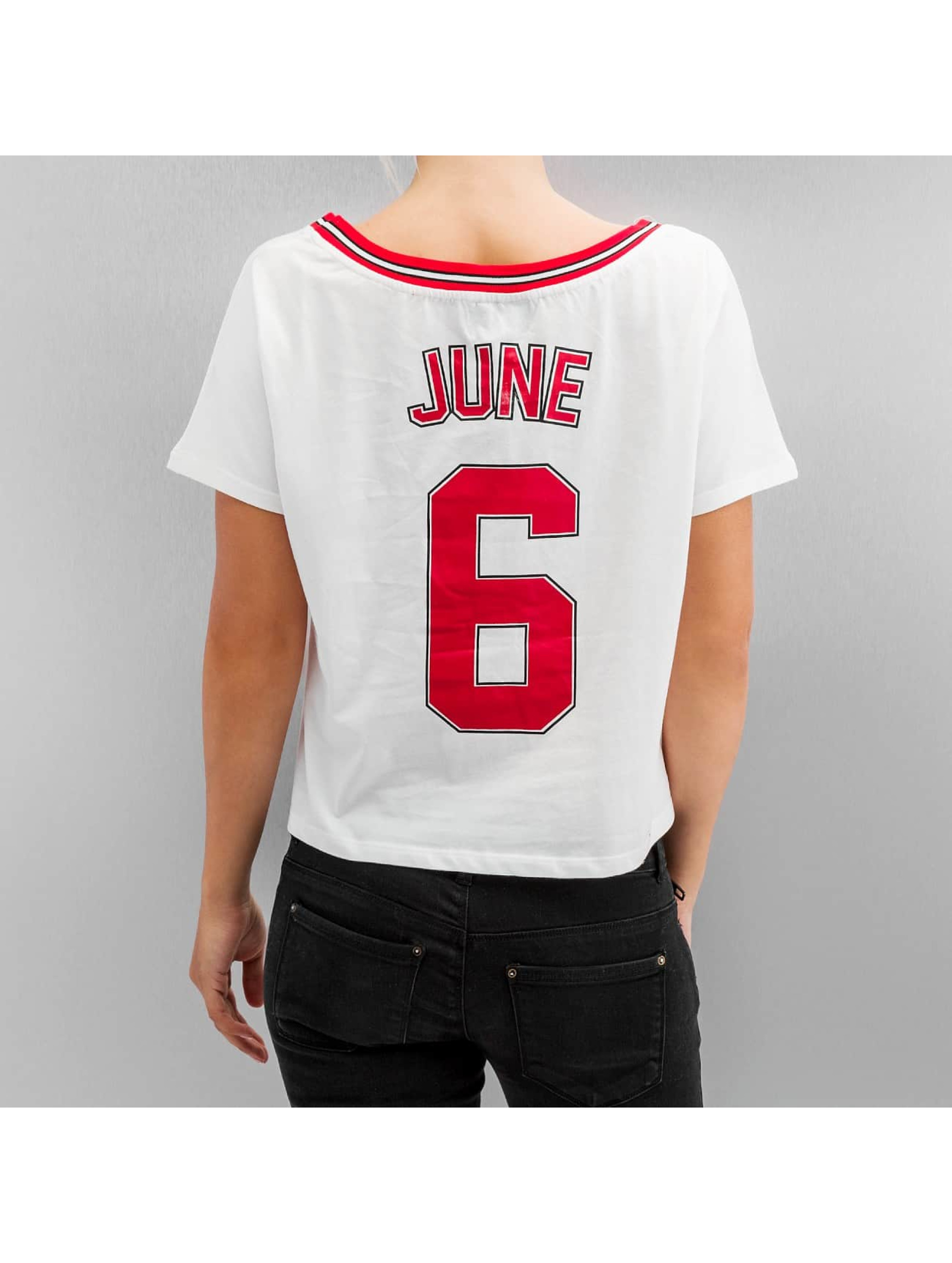 Sixth June T-Shirty Cropped bialy