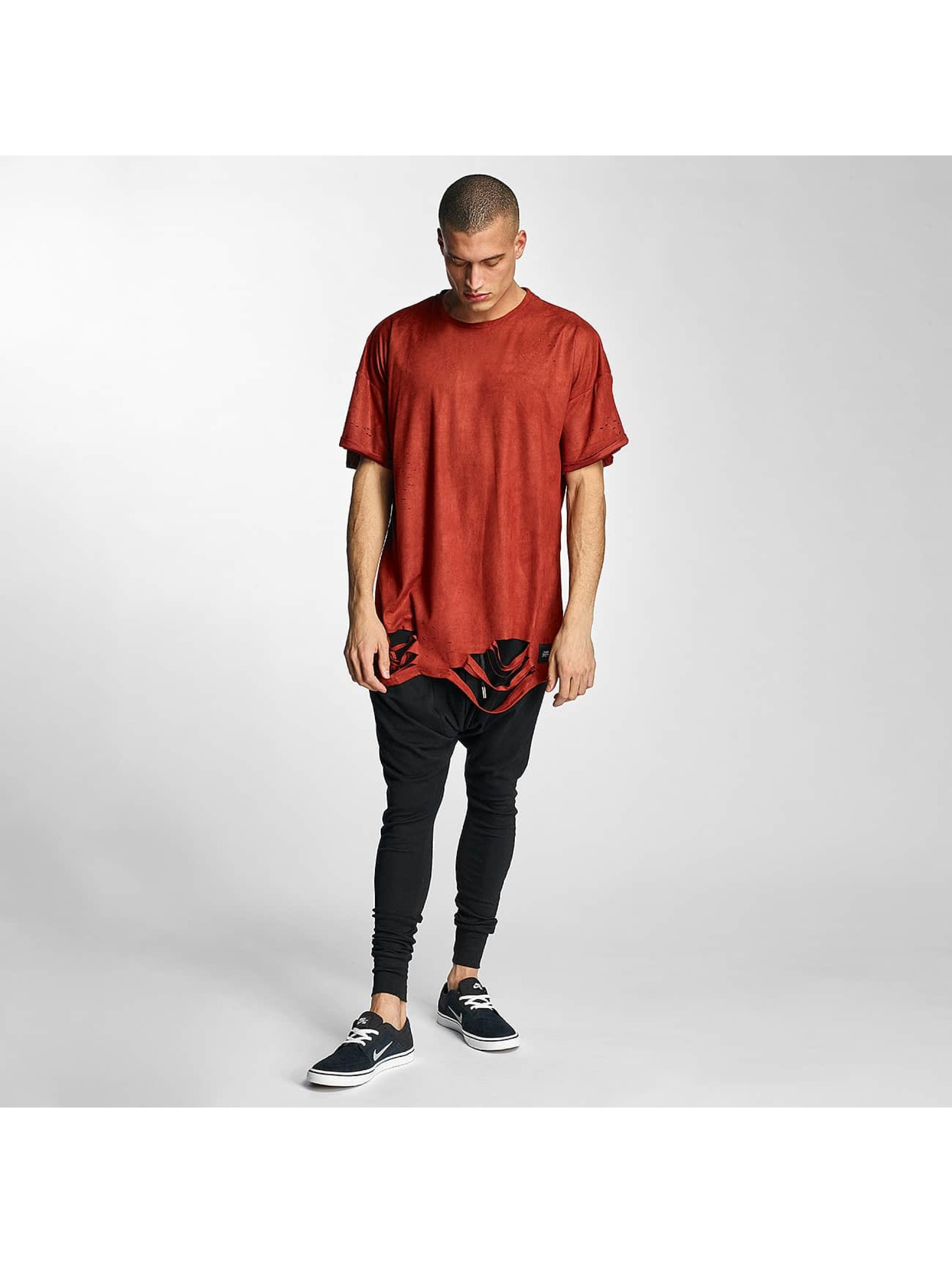 Sixth June T-skjorter Destroyed Overside Suede red