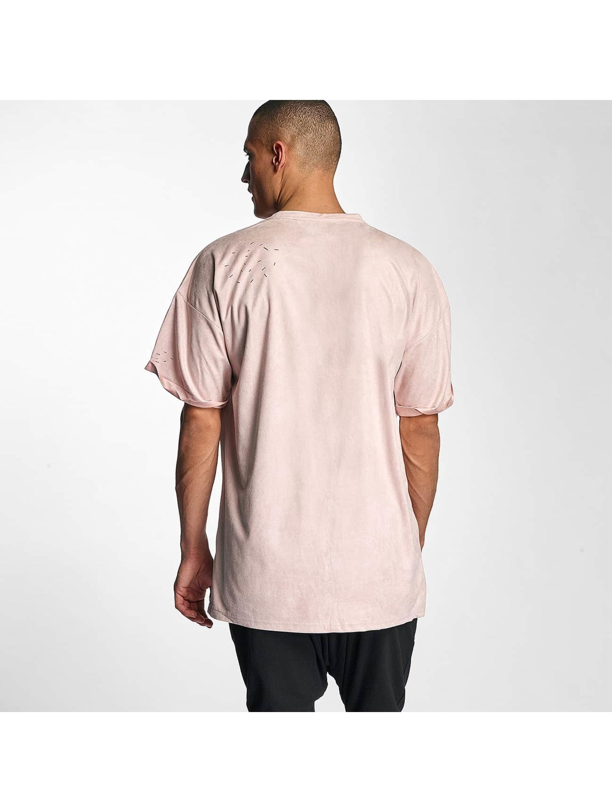 Sixth June T-skjorter Destroyed Overside Suede rosa