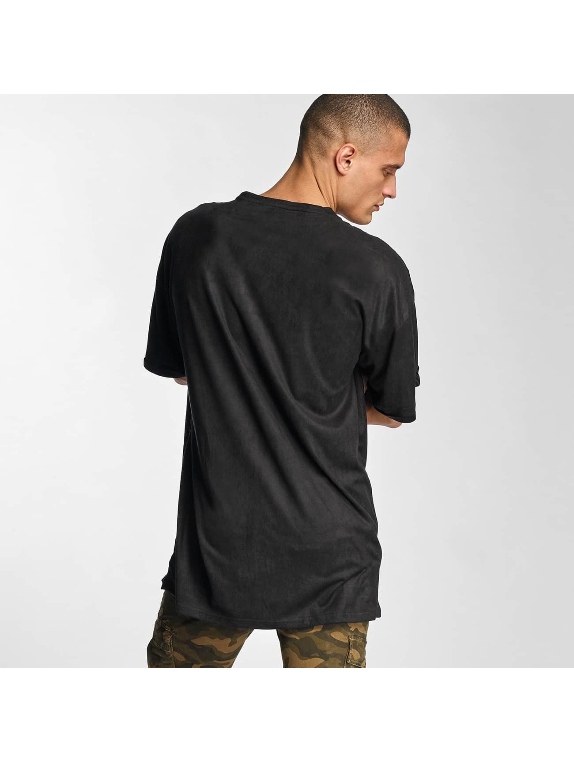 Sixth June T-skjorter Destroyed Overside Suede svart