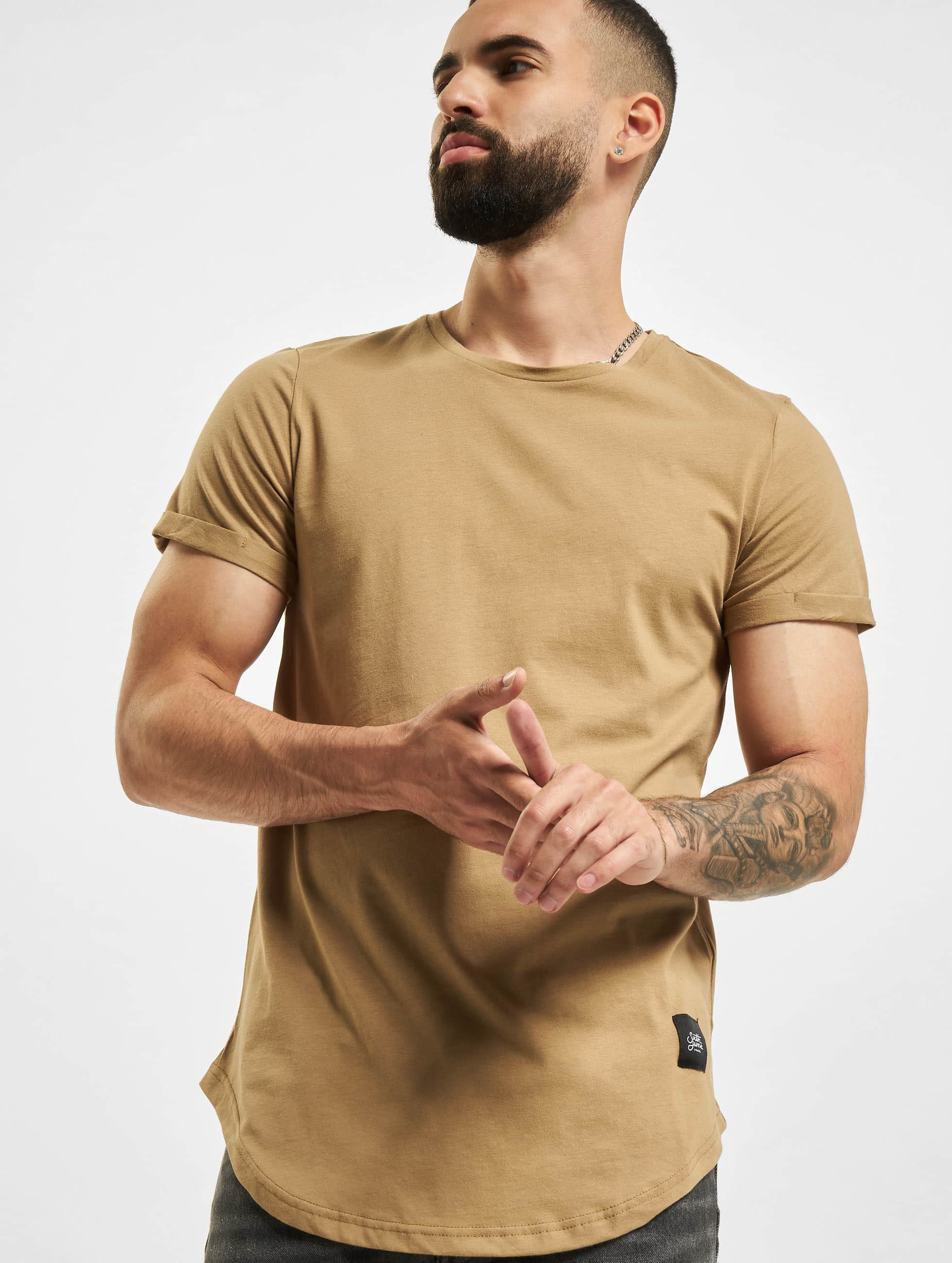 Tall Tees Rounded Bottom in beige