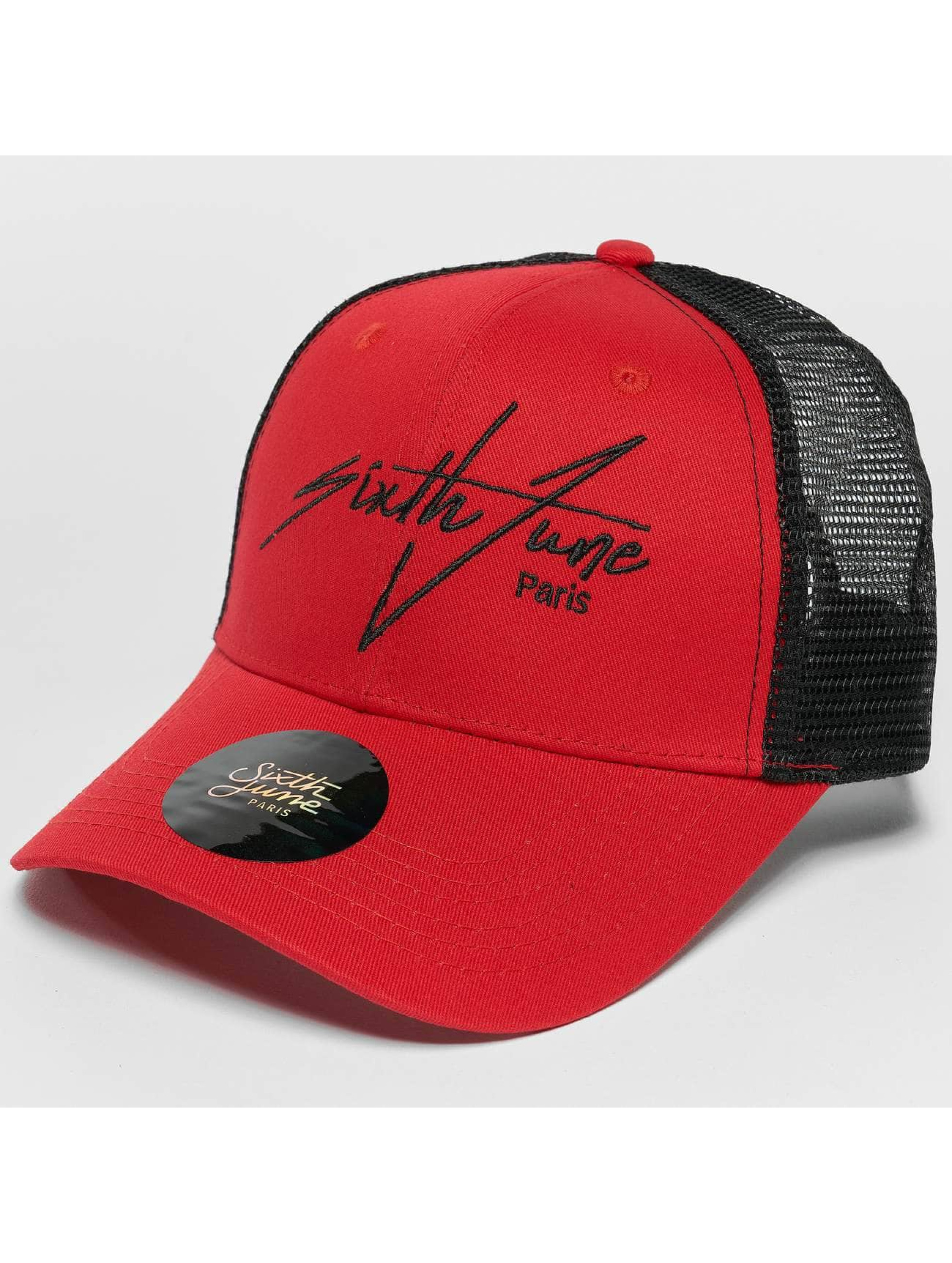 Sixth June Trucker Caps Trucker czerwony