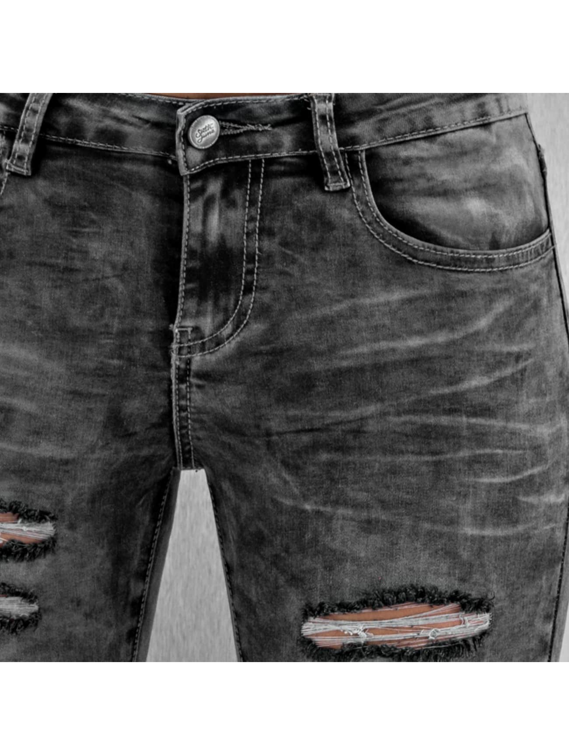 Sixth June Vaqueros pitillos Destroyed gris
