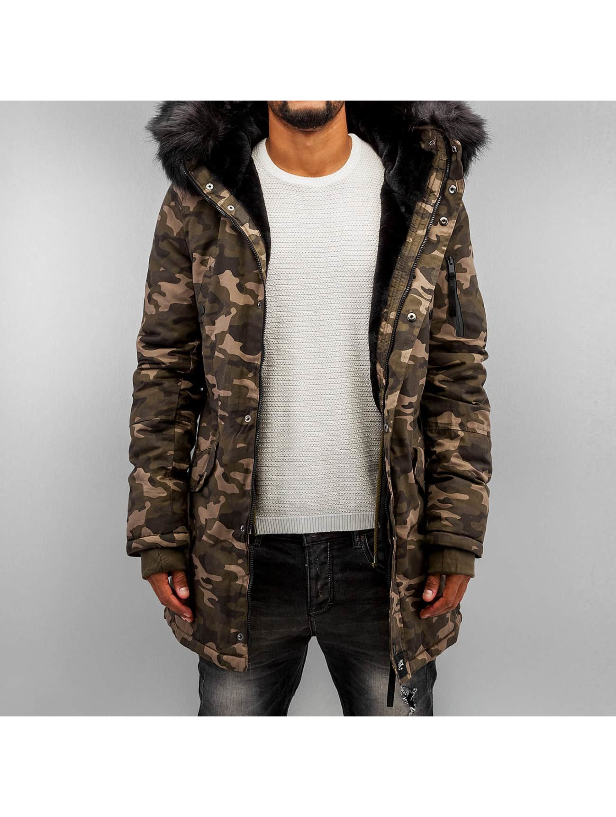Winterjacke Fur in camouflage
